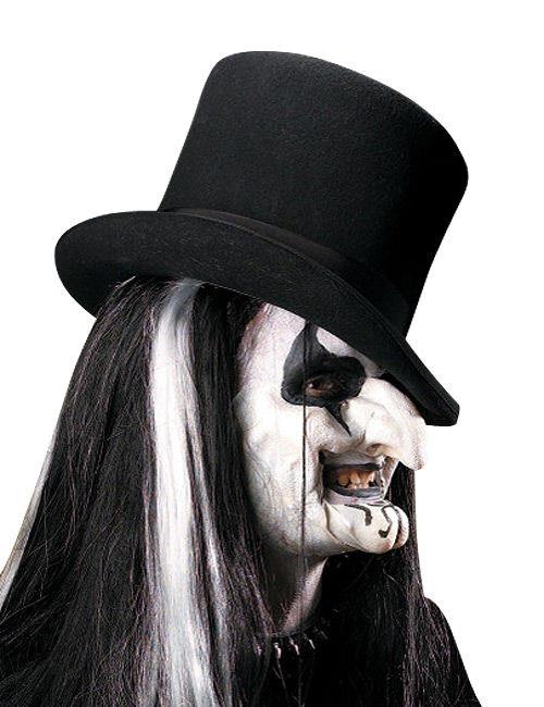 #Harlekin Horror-Latexapplikation 2-teilig Halloween weiss#