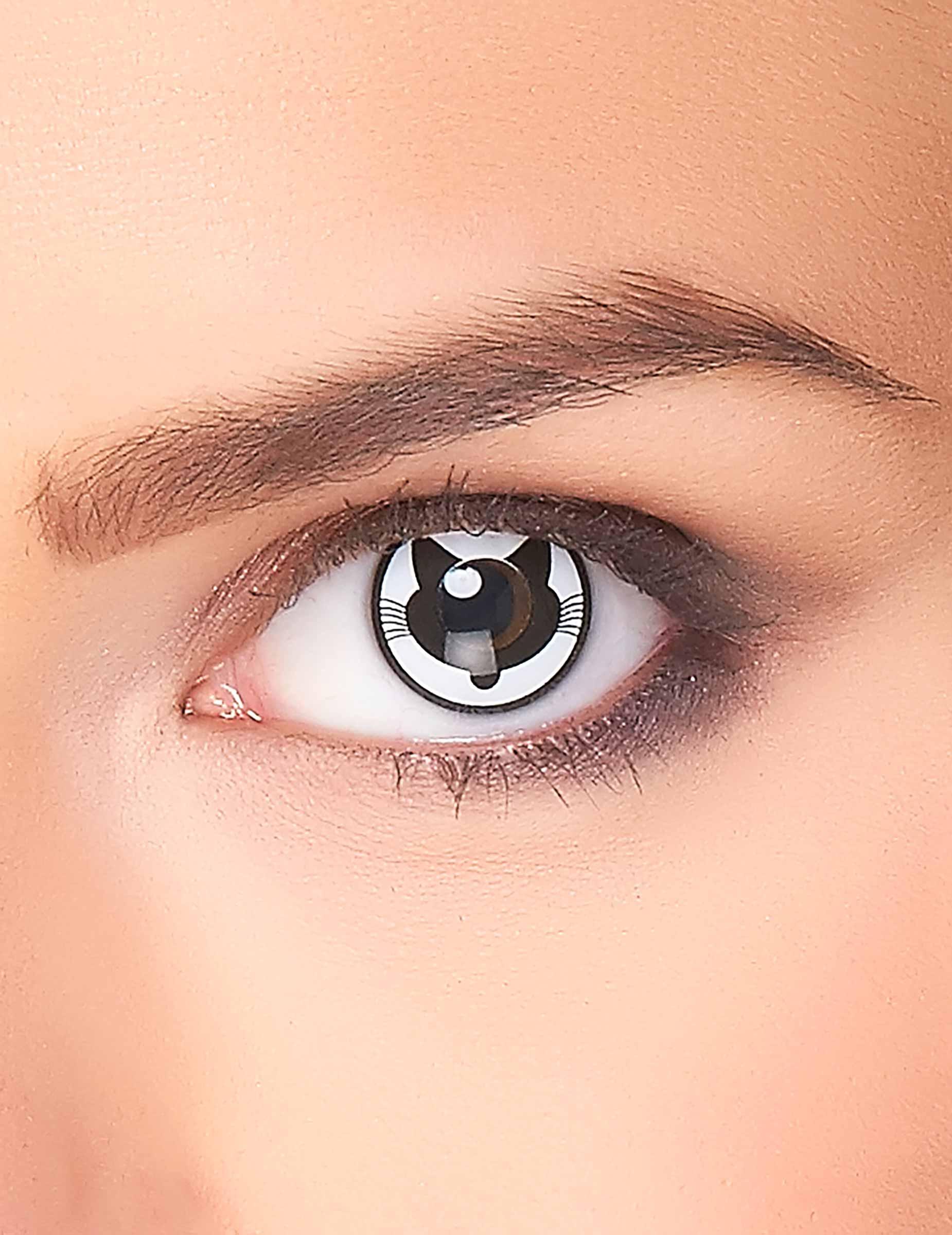accessoires kontaktlinsen verr ckte katze f r erwachsene schminke und g nstige faschingskost me. Black Bedroom Furniture Sets. Home Design Ideas