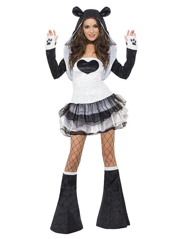 sexy panda kostum mit tutu damen