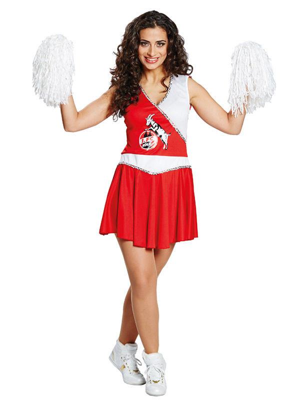 cheerleader kost m damen 1 fc k ln rot wei kost me f r erwachsene und g nstige. Black Bedroom Furniture Sets. Home Design Ideas