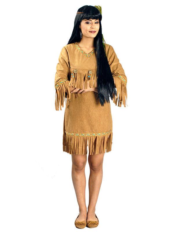 indianer kost m mit fransen damen kost me f r erwachsene und g nstige faschingskost me vegaoo. Black Bedroom Furniture Sets. Home Design Ideas