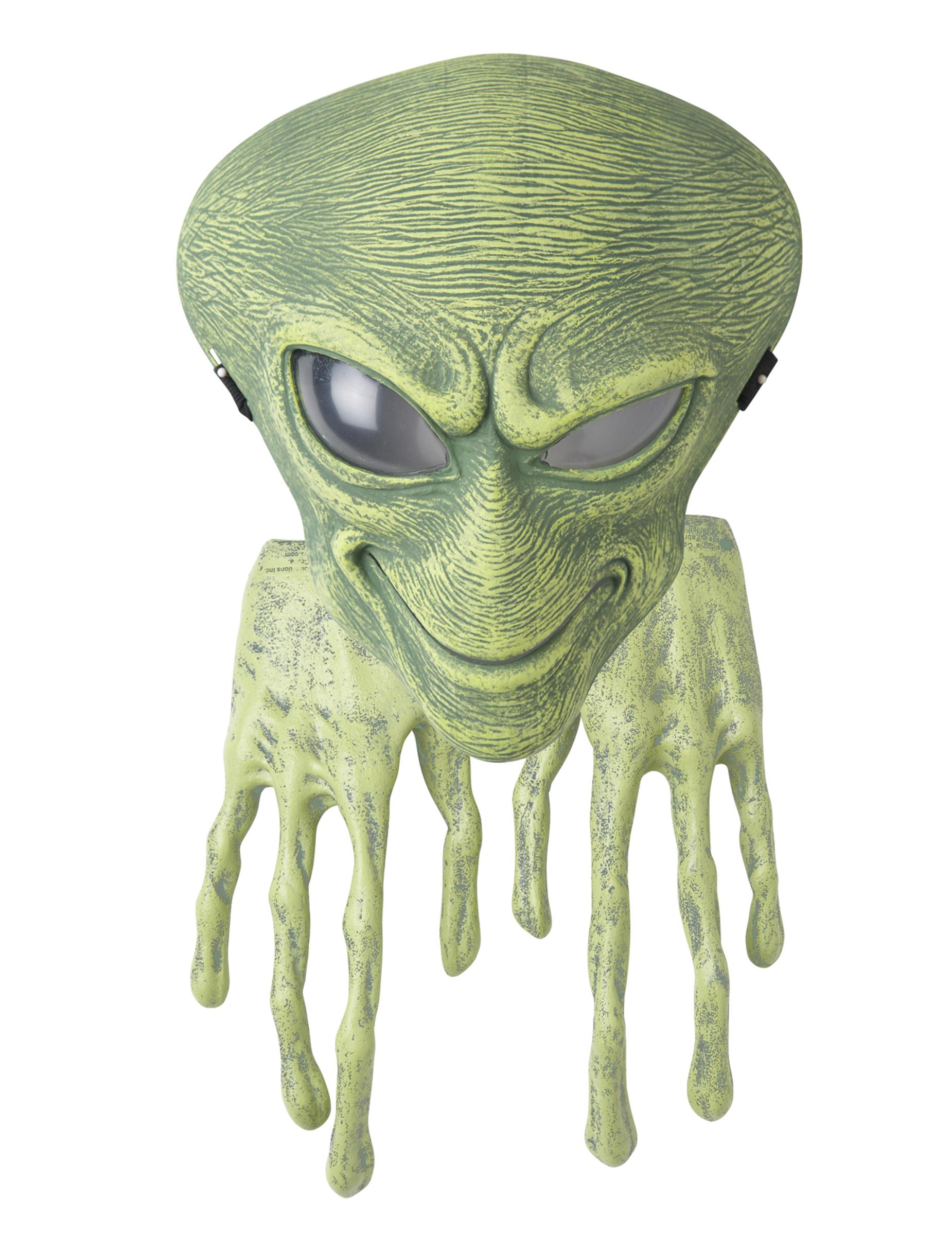 Alien-Maske und Handschuhe Erwachsene 244900