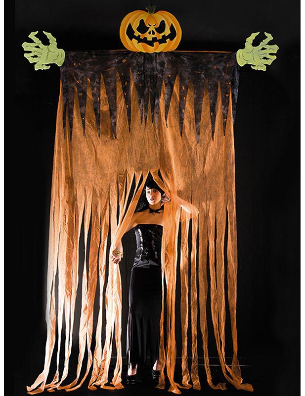Türvorhang Kürbis Halloween bunt 350 cm 246512