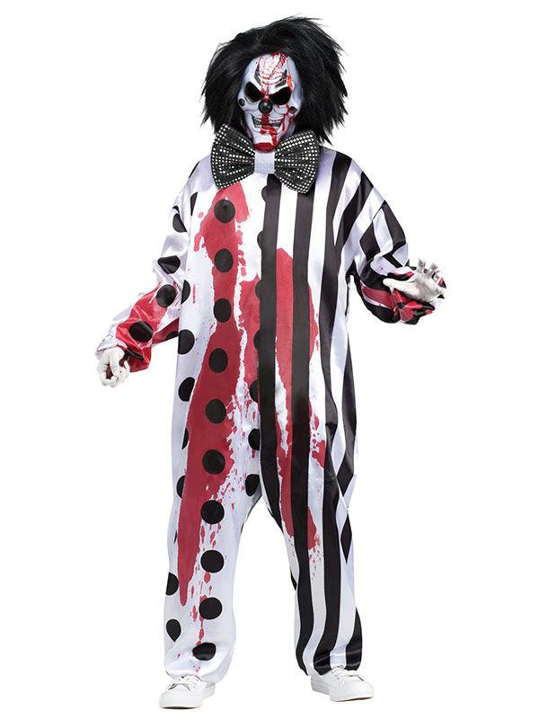 Blutiges Clown-Kostüm Herren Halloween: Kostüme für Erwachsene,und ...