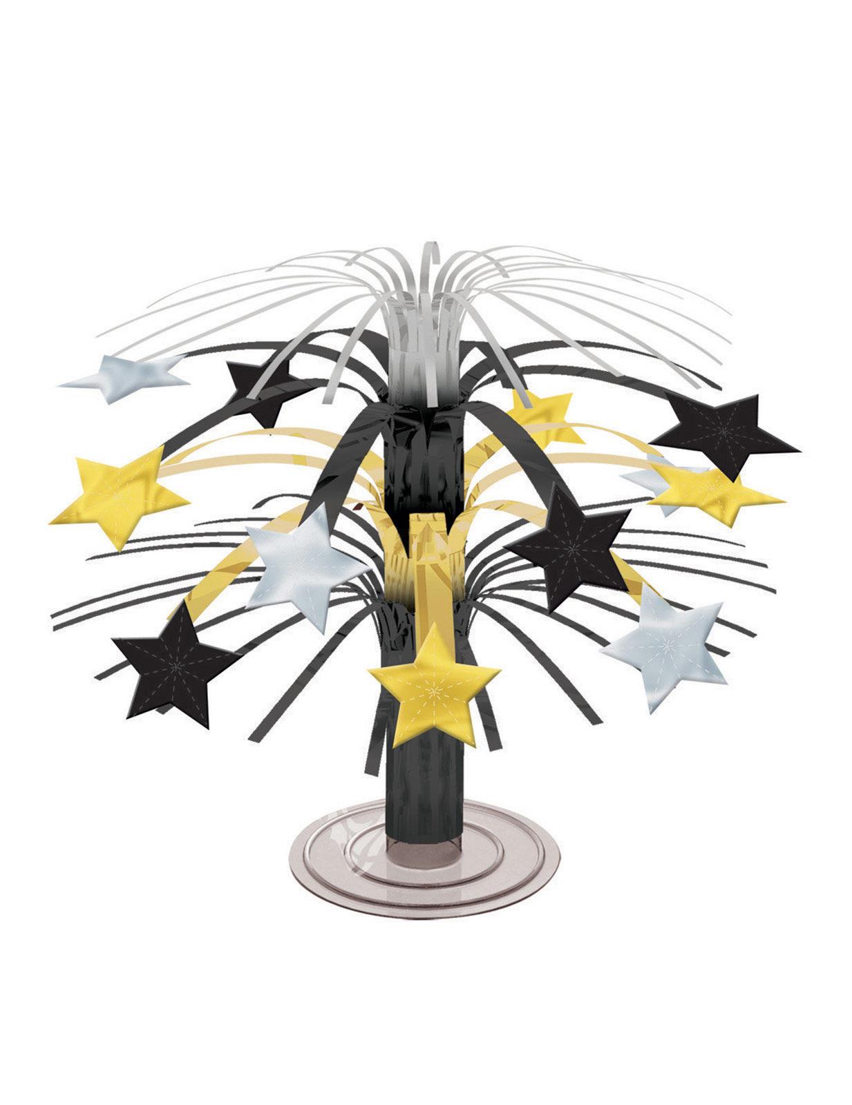 Tischdeko Mit Sternen Aus Gold Silber Und Schwarz 19 Cm Partydeko