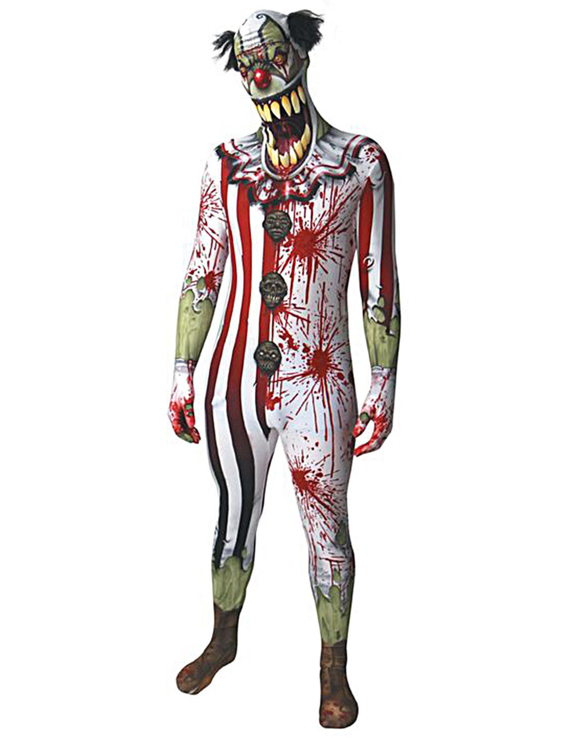 blutiges clown kost m erwachsene morphsuits halloween. Black Bedroom Furniture Sets. Home Design Ideas