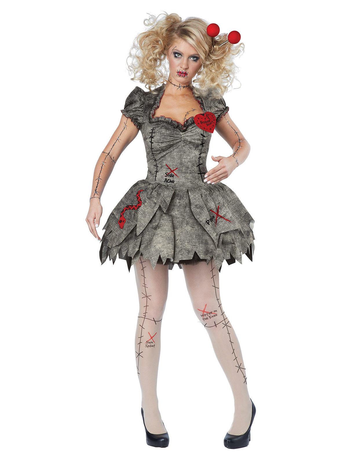 kostum voodoo puppe damen halloween