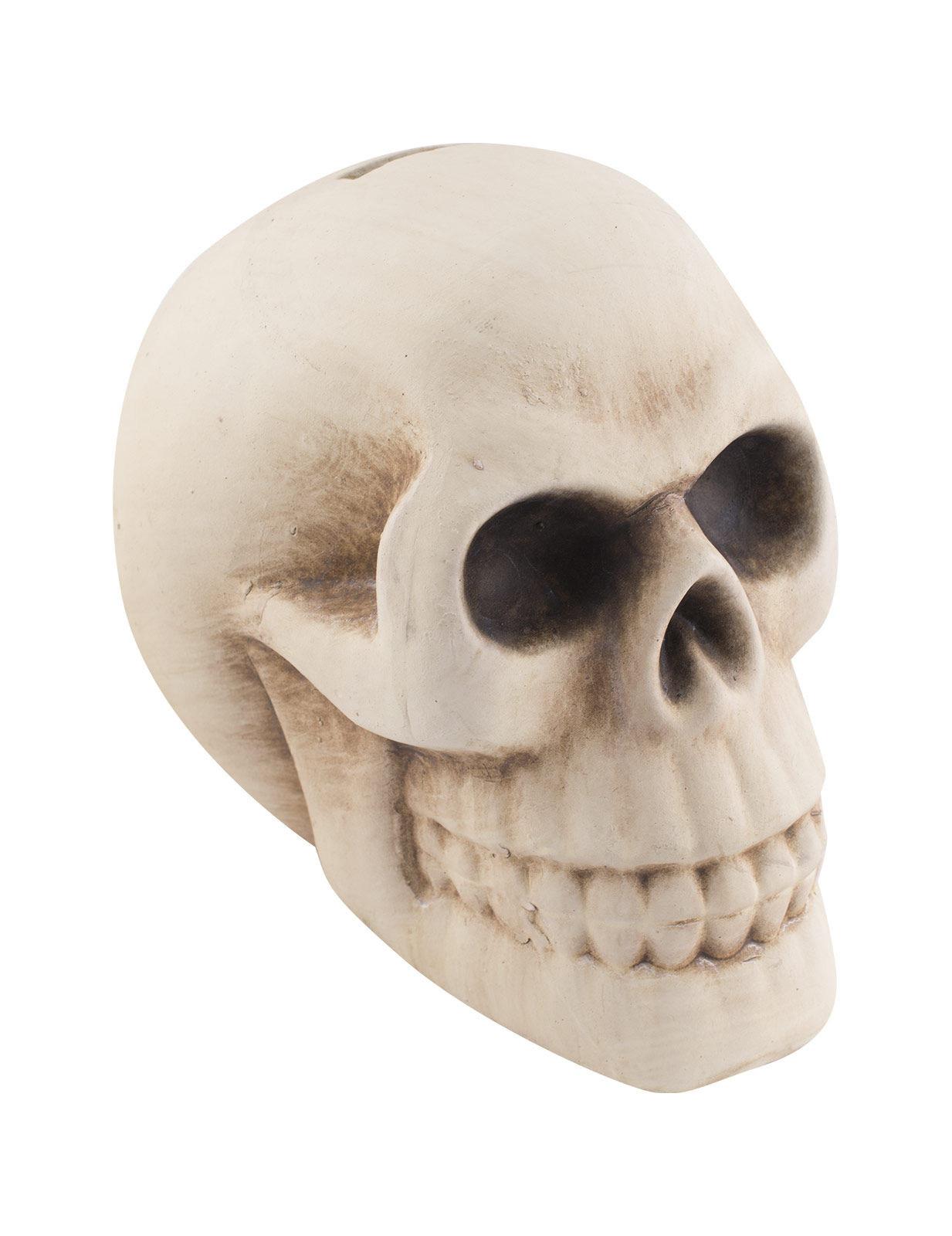 Totenkopf-Spardose Halloween-Zubehör Schädel 11x12x16cm 261153
