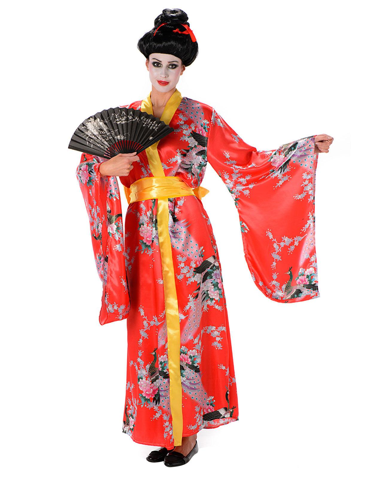 geisha kost m rot f r damen kost me f r erwachsene und g nstige faschingskost me vegaoo. Black Bedroom Furniture Sets. Home Design Ideas
