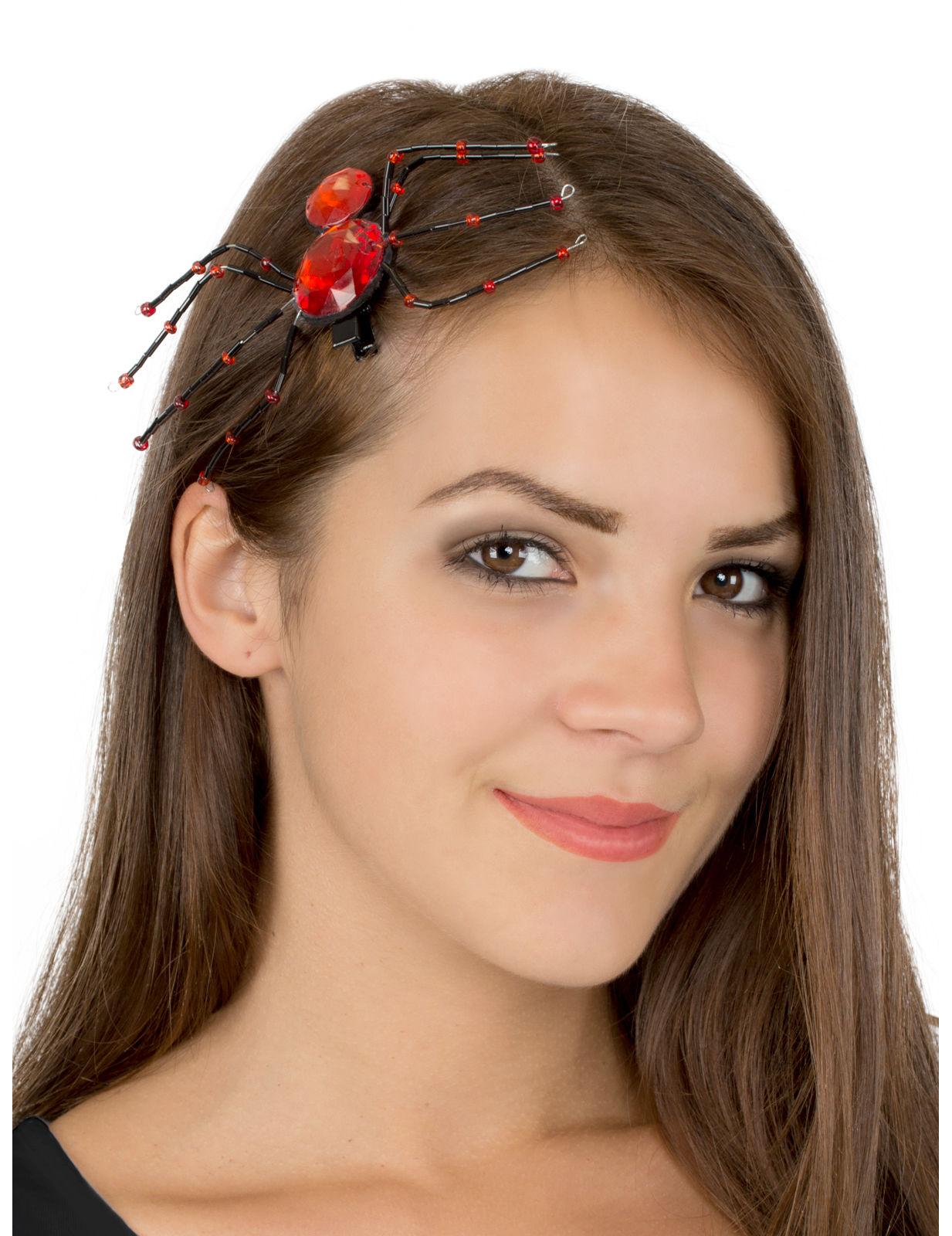 Edle spinnen haarspange schwarz rot accessoires und for Edle accessoires