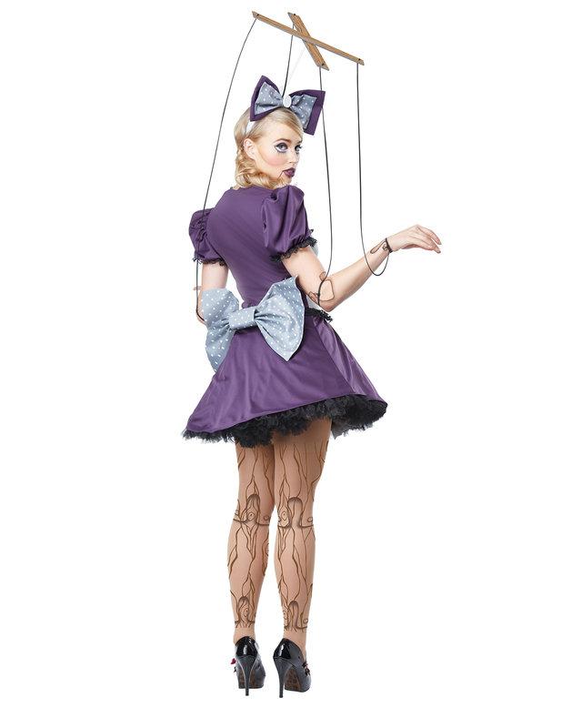 halloween marionetten kost m f r damen lila grau. Black Bedroom Furniture Sets. Home Design Ideas