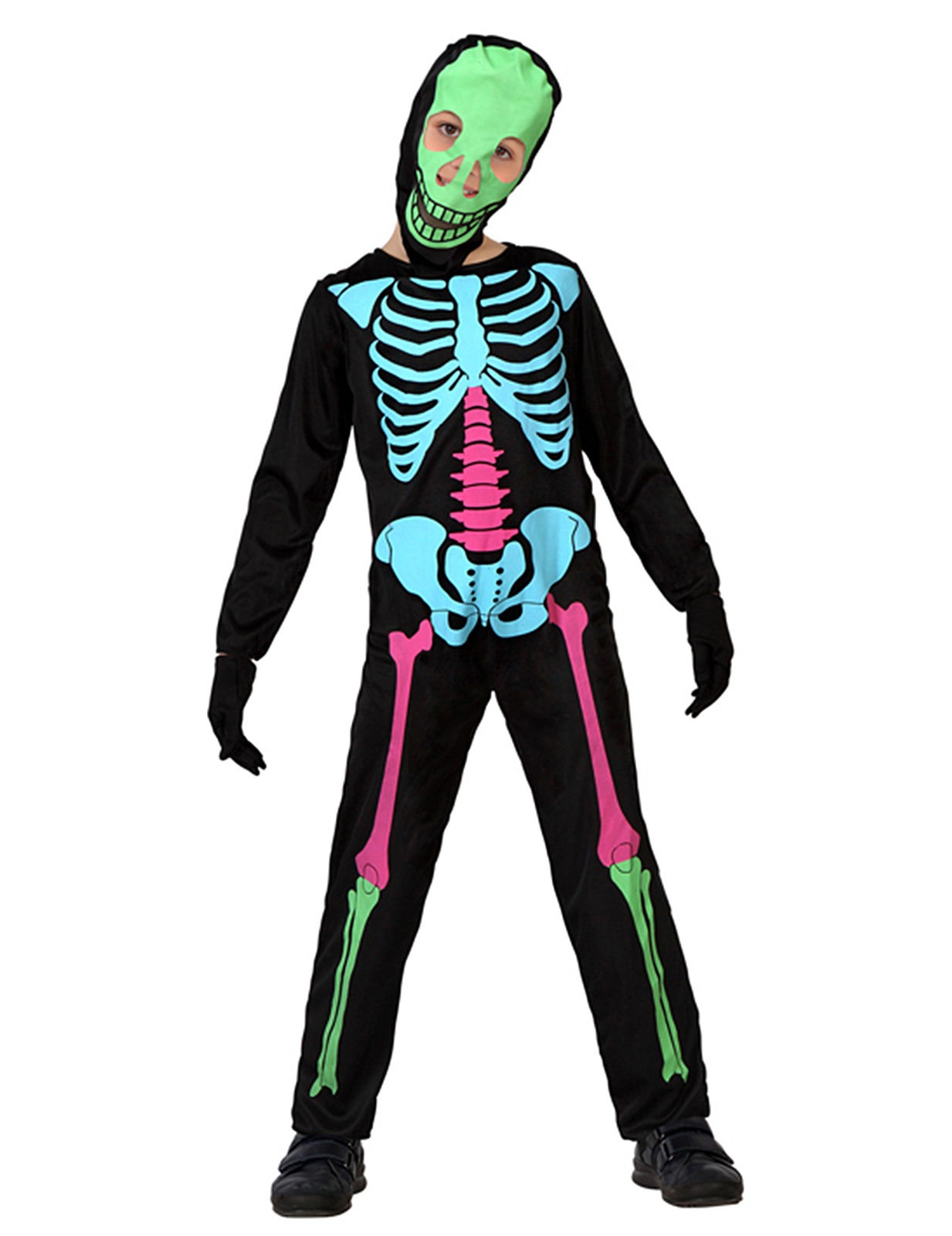 buntes skelettkost m f r kinder. Black Bedroom Furniture Sets. Home Design Ideas
