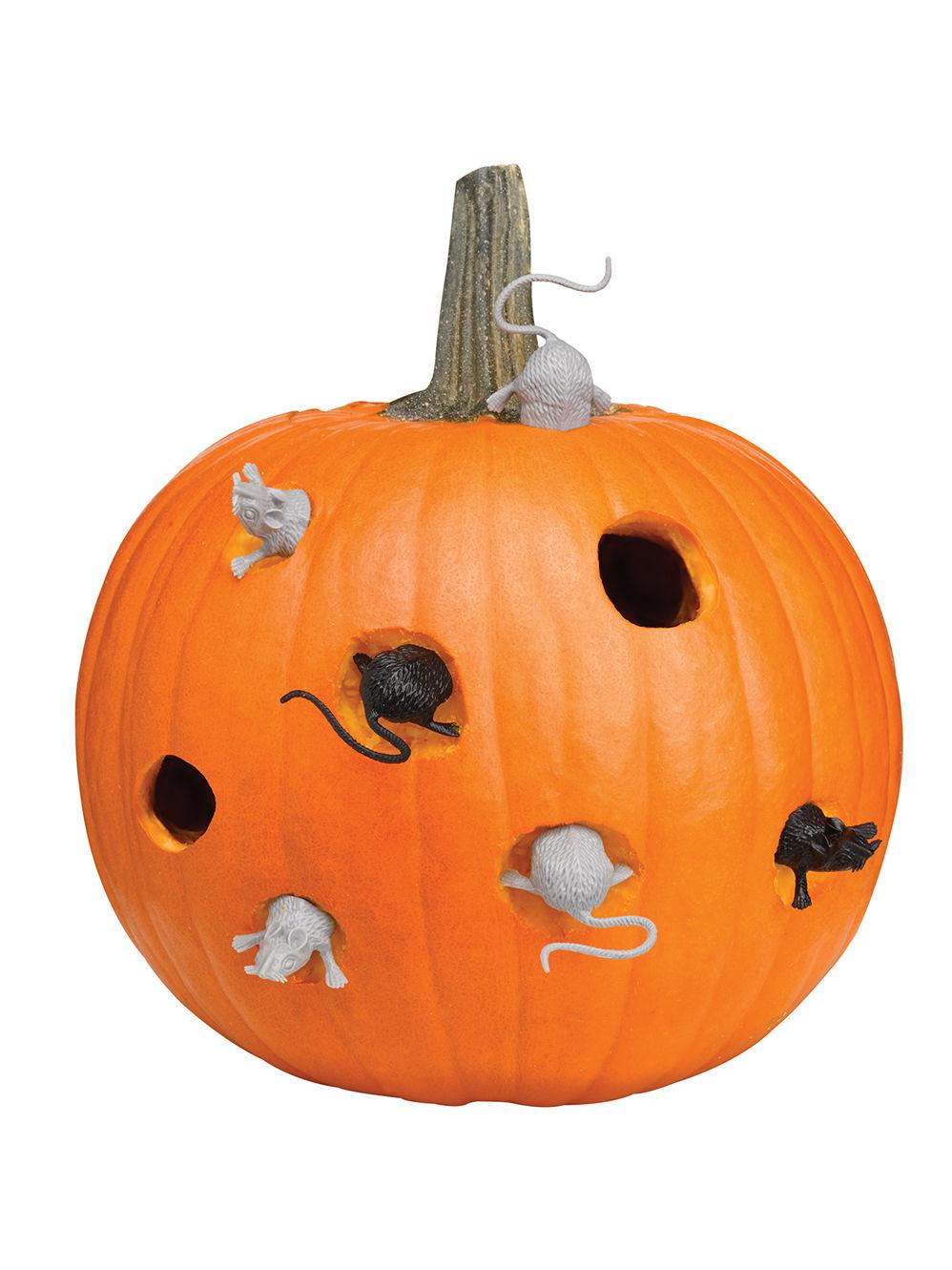 Kuerbis Schnitzen Pirat.Kurbis Set Mause Halloween 8 Teilig Bunt Partydeko Und Gunstige Faschingskostume Vegaoo