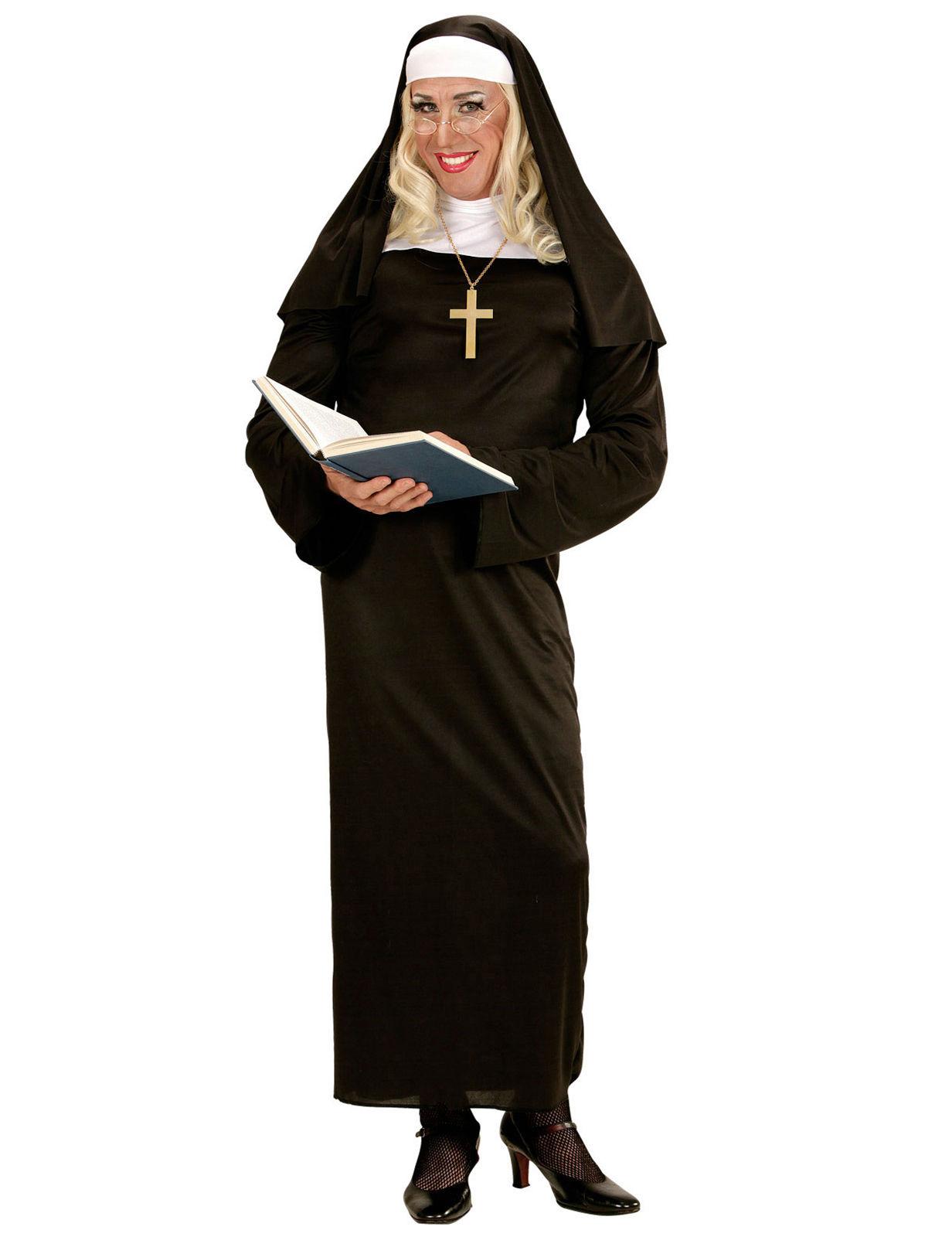 Religiöses Damenkostüm schwarz-weiss - XL 272111