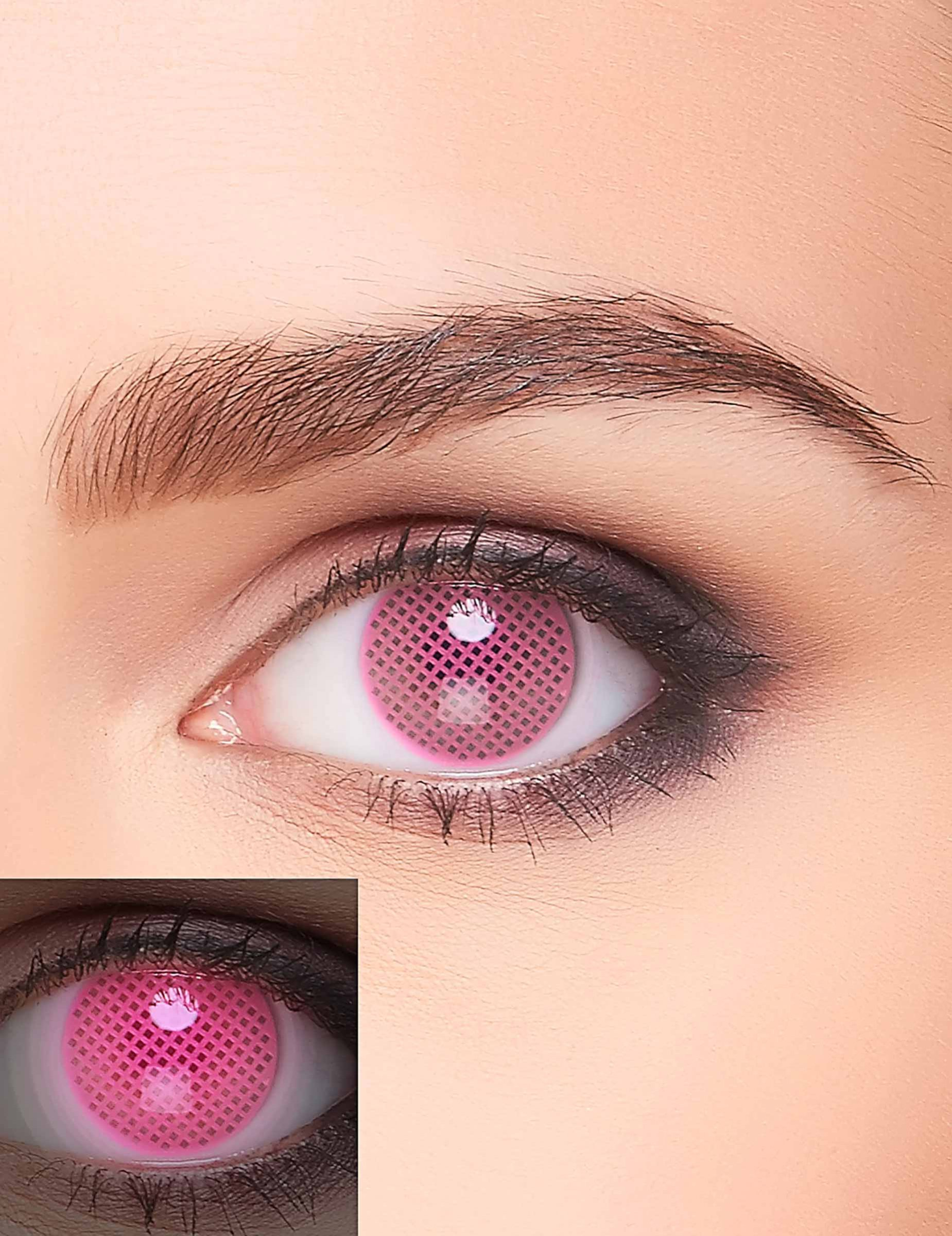 erwachsene auge in rosa