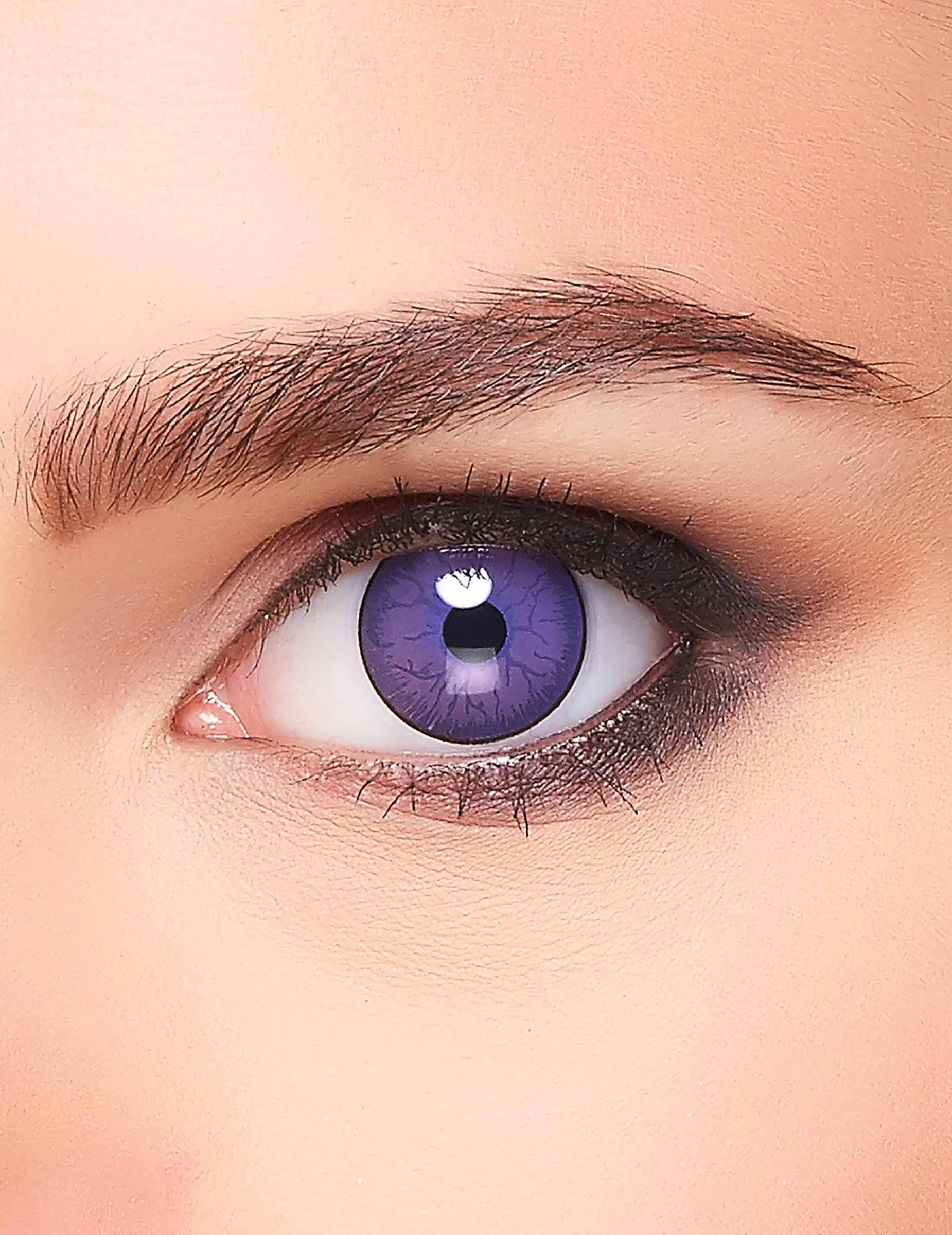violette kontaktlinsen mit adern f r erwachsene halloween. Black Bedroom Furniture Sets. Home Design Ideas
