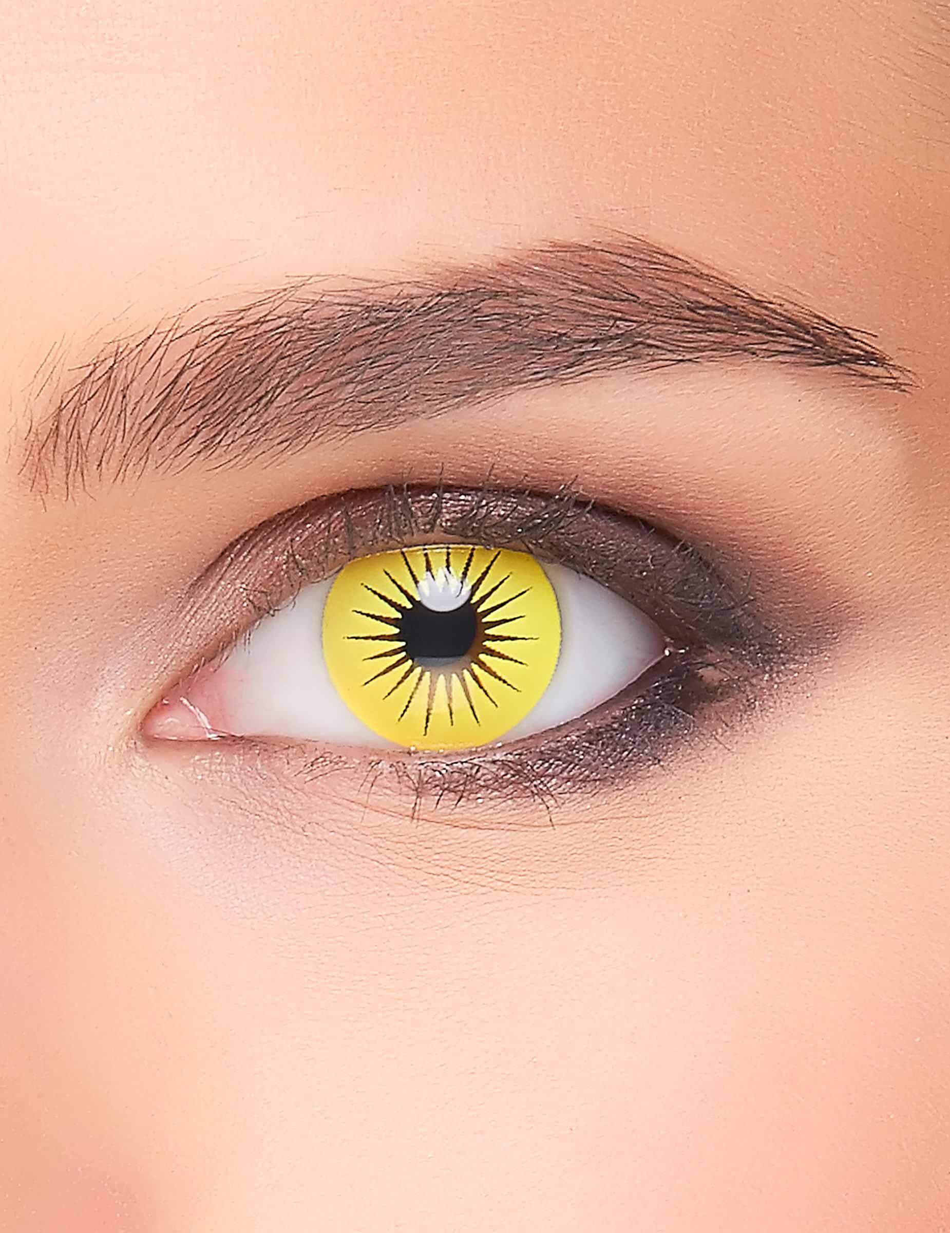 kontaktlinsen stern gelb schwarz schminke und g nstige. Black Bedroom Furniture Sets. Home Design Ideas