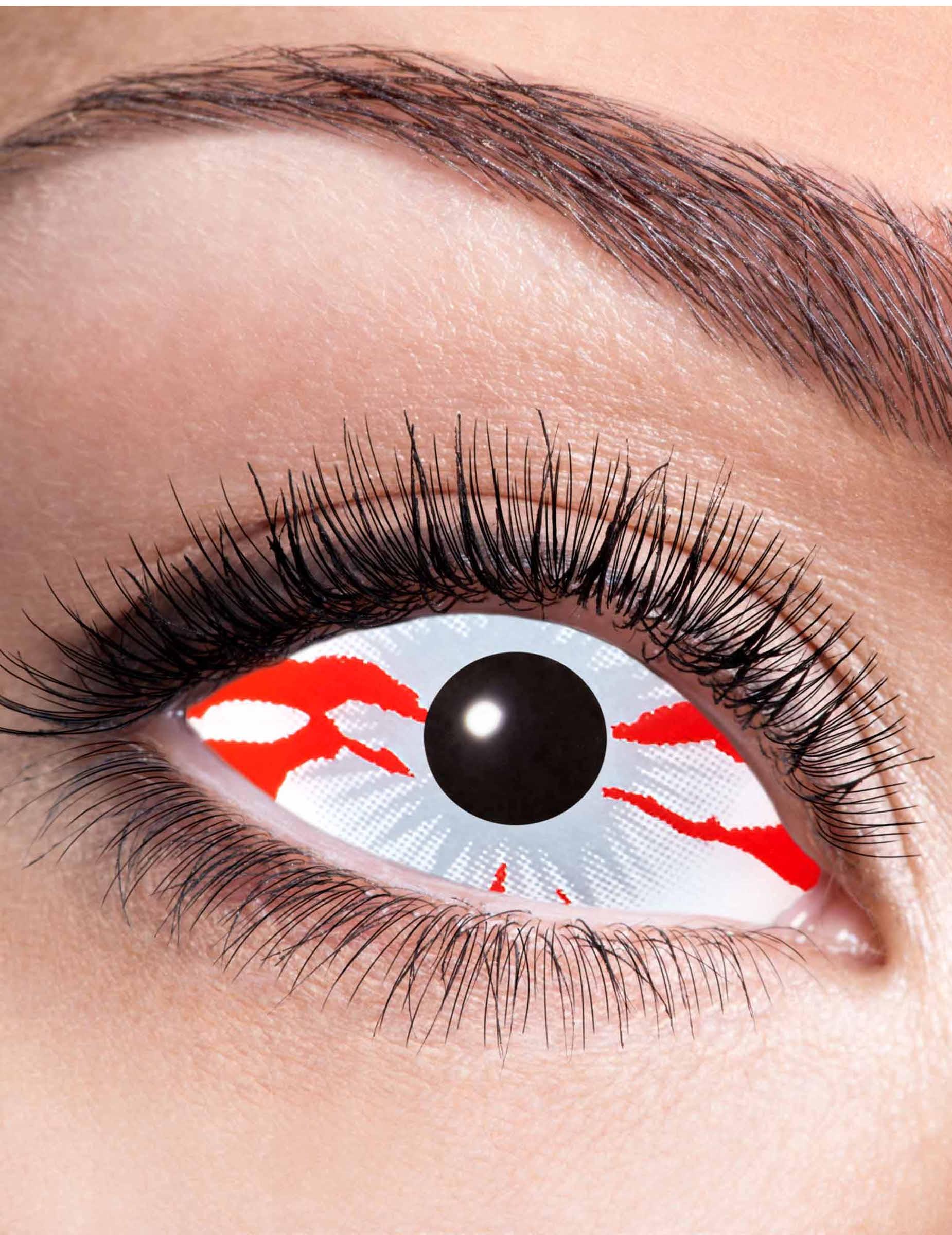 halloween kontaktlinsen blutiges auge schminke und. Black Bedroom Furniture Sets. Home Design Ideas