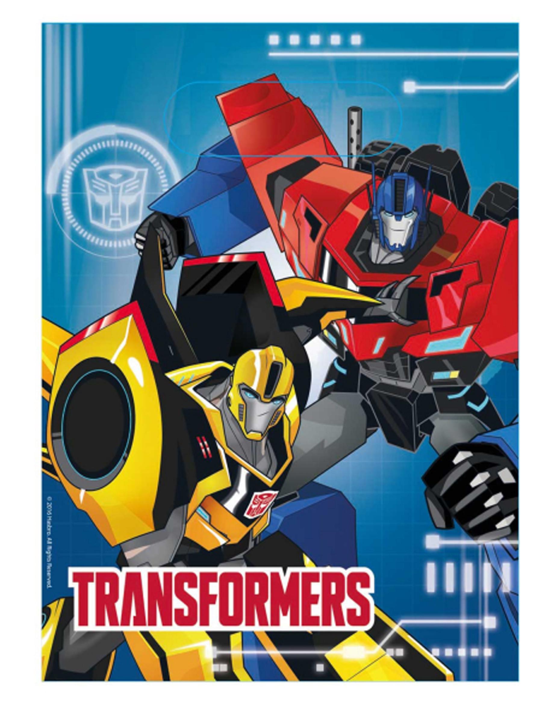 #Kunststoff Partytüten Transformers™8 Stück#