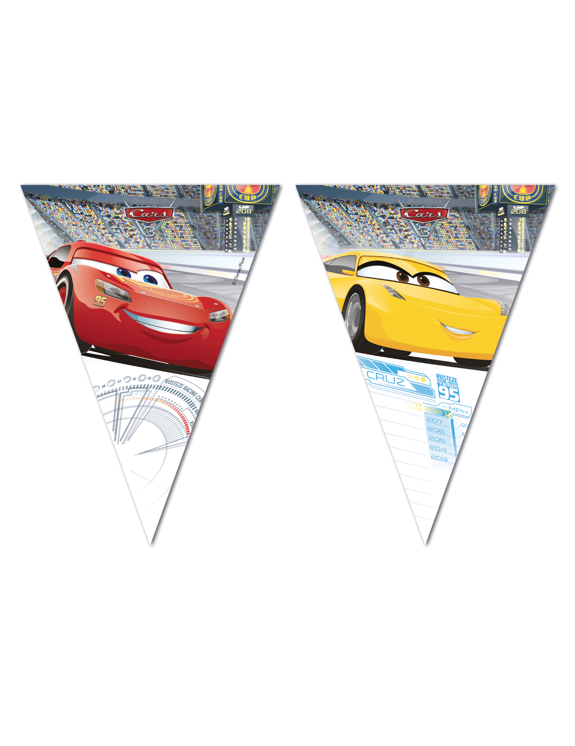 #Cars 3™-Wimpel Girlande bunt#