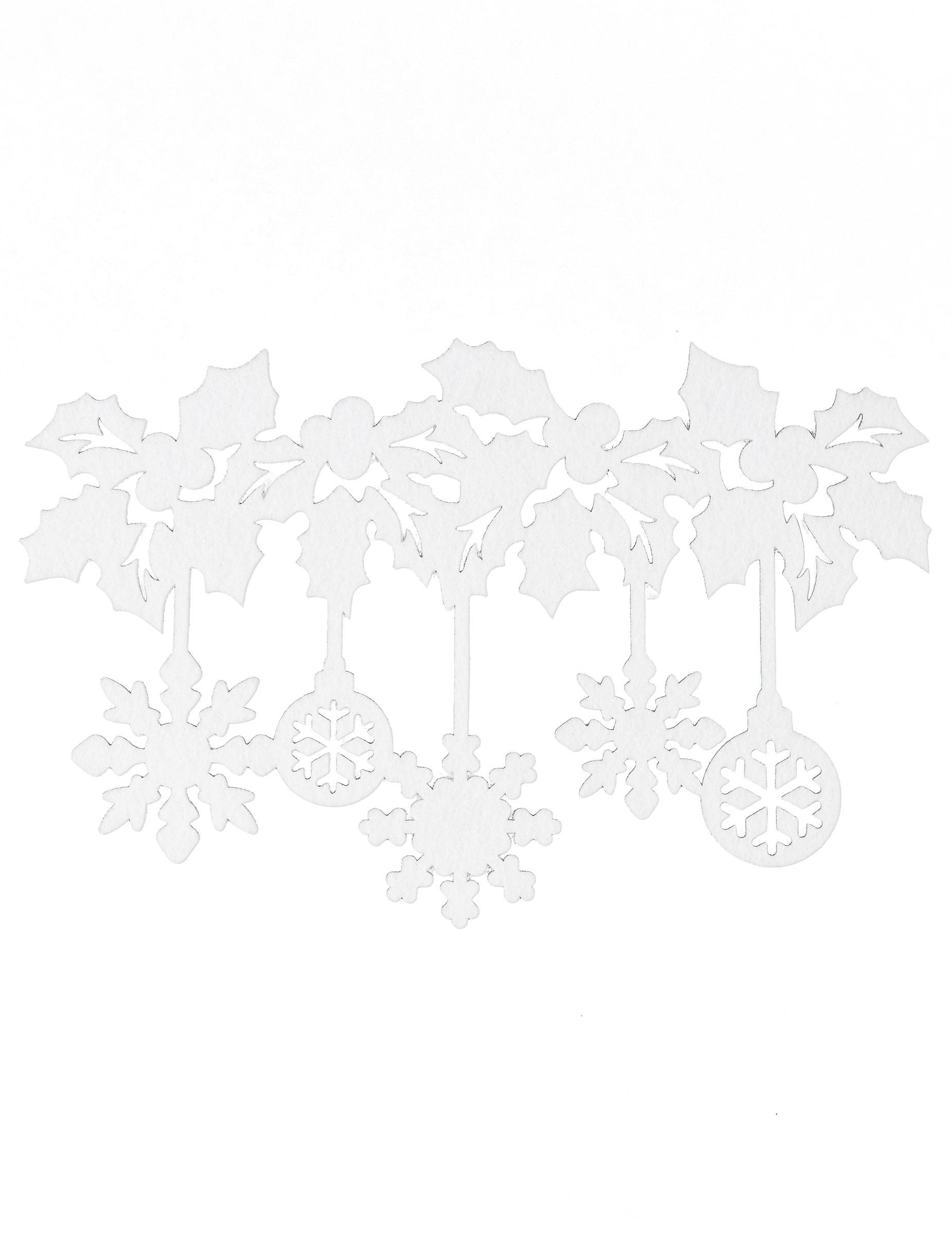 fenster weihnachtsdekoration weiss partydeko und g nstige. Black Bedroom Furniture Sets. Home Design Ideas