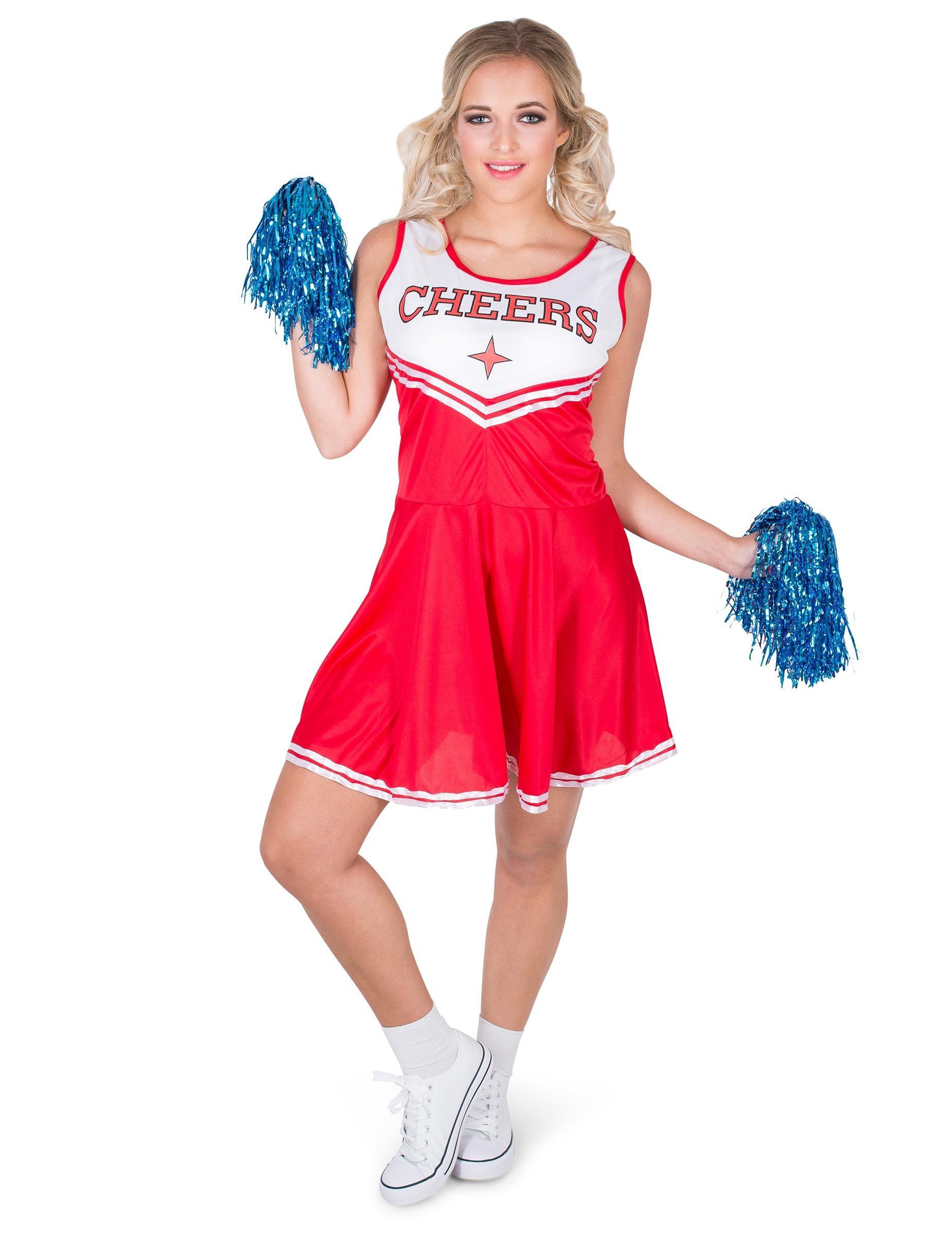 Cheerleader Kostüm für Damen rot - XL 270124
