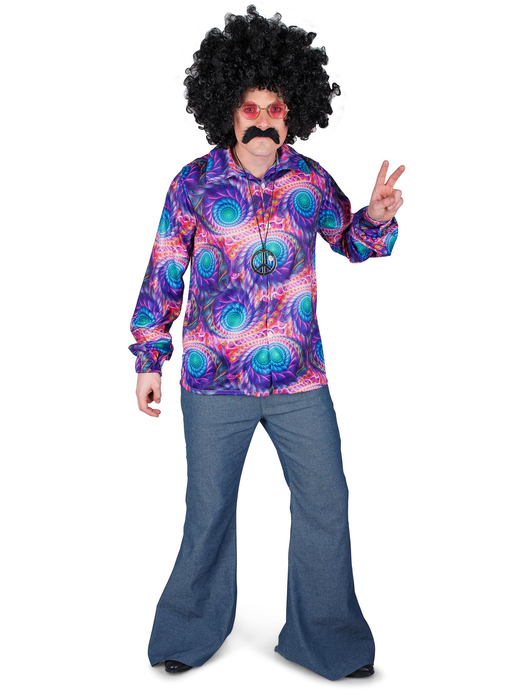 Hippie Disco Hemd für Herren - L 270171