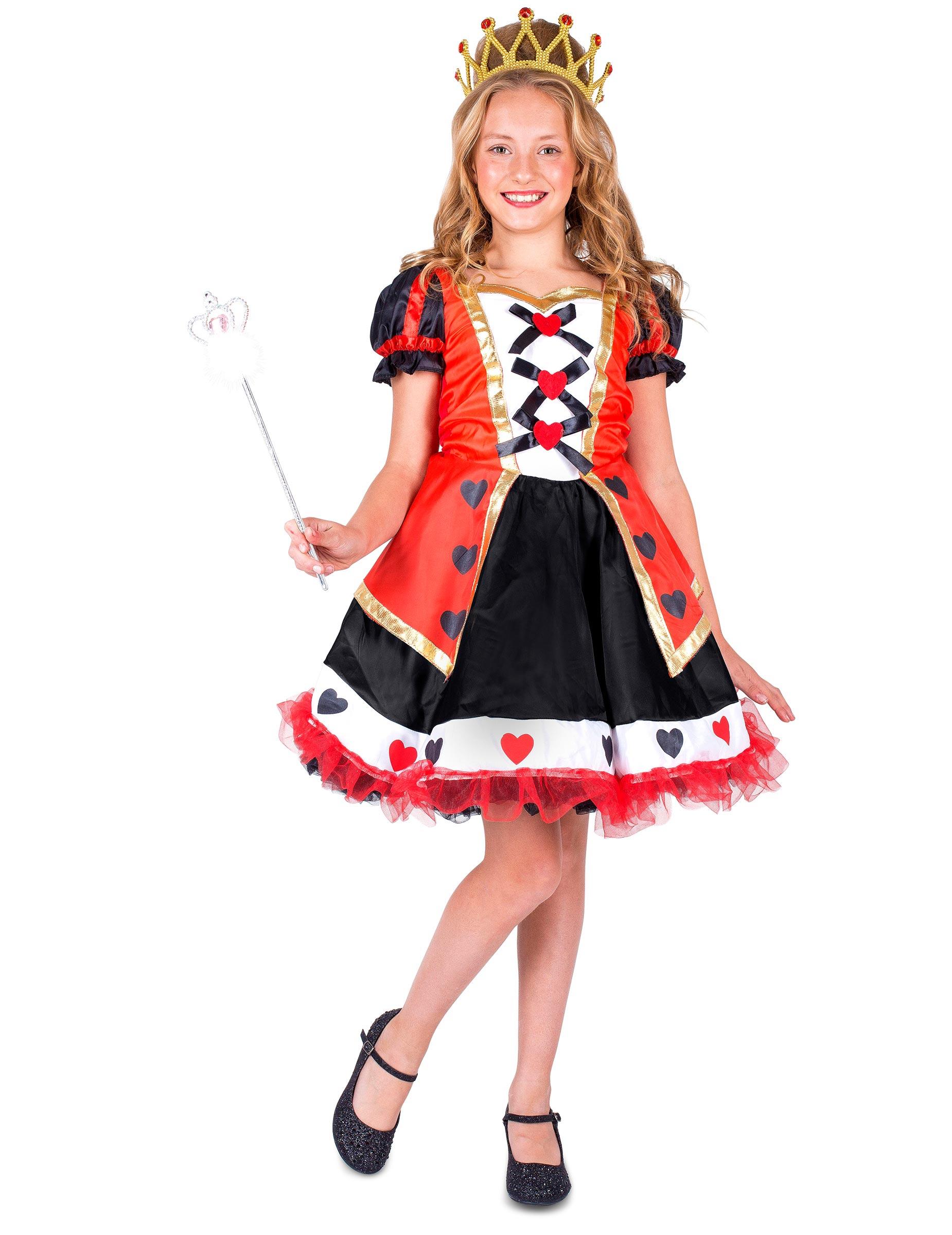 *Herzkönigin – Kostüm für Mädchen*