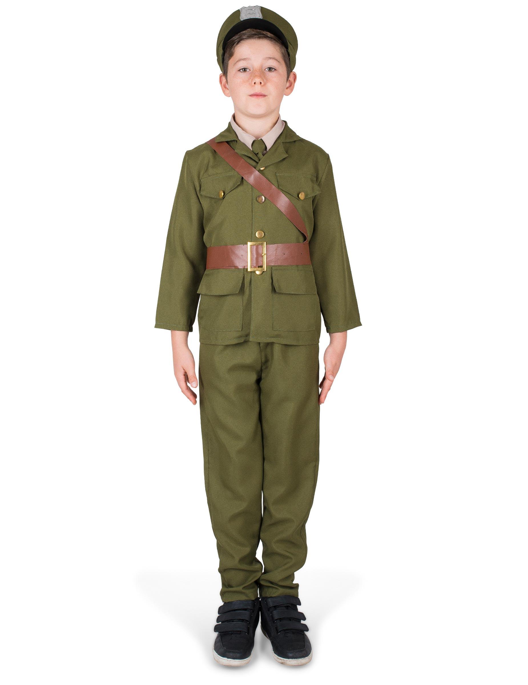 Soldatenkostüm für Jungen - 122/128 (4-6 Jahre) 270266