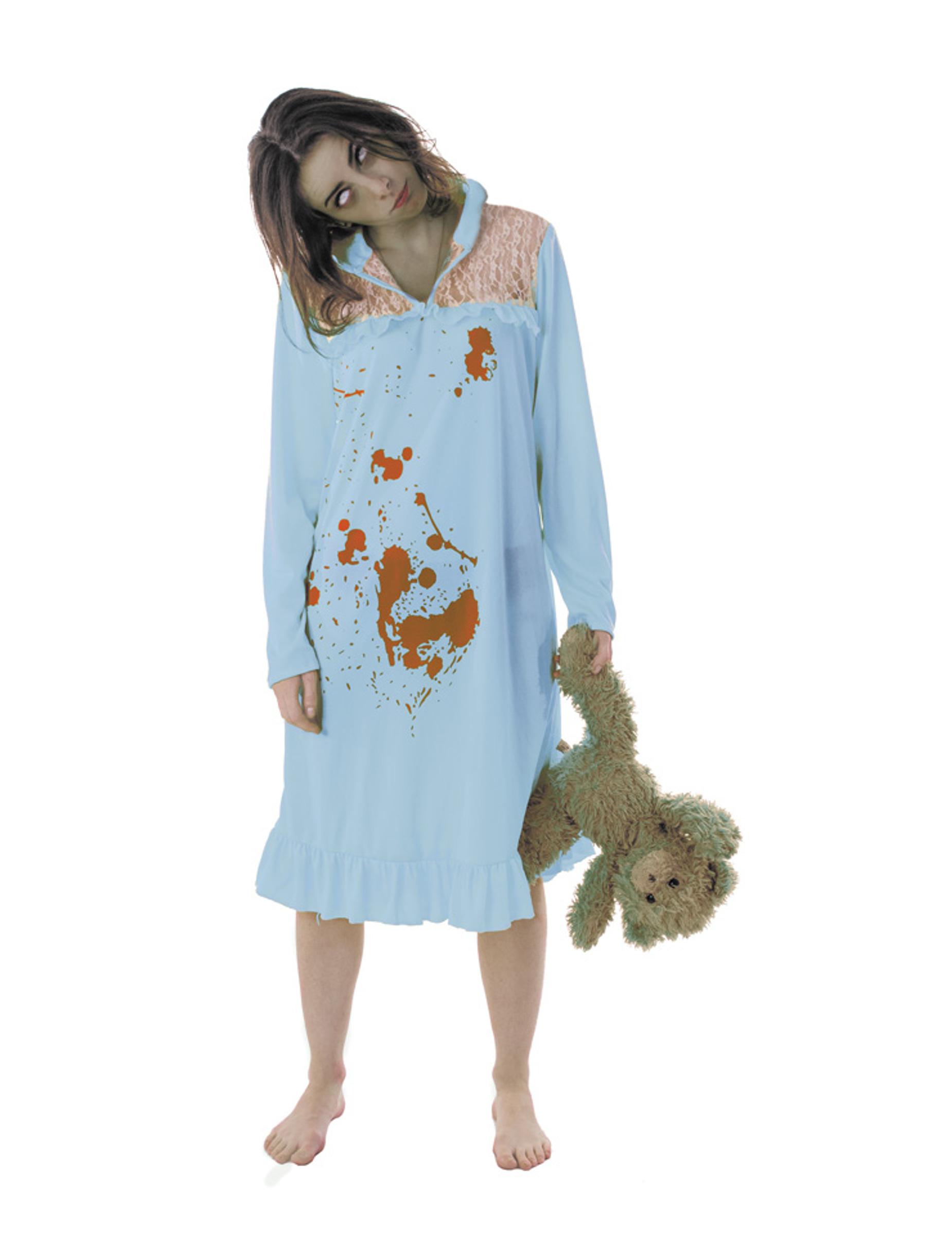 pyjama zombie kost m f r damen halloween kost me f r erwachsene und g nstige faschingskost me. Black Bedroom Furniture Sets. Home Design Ideas