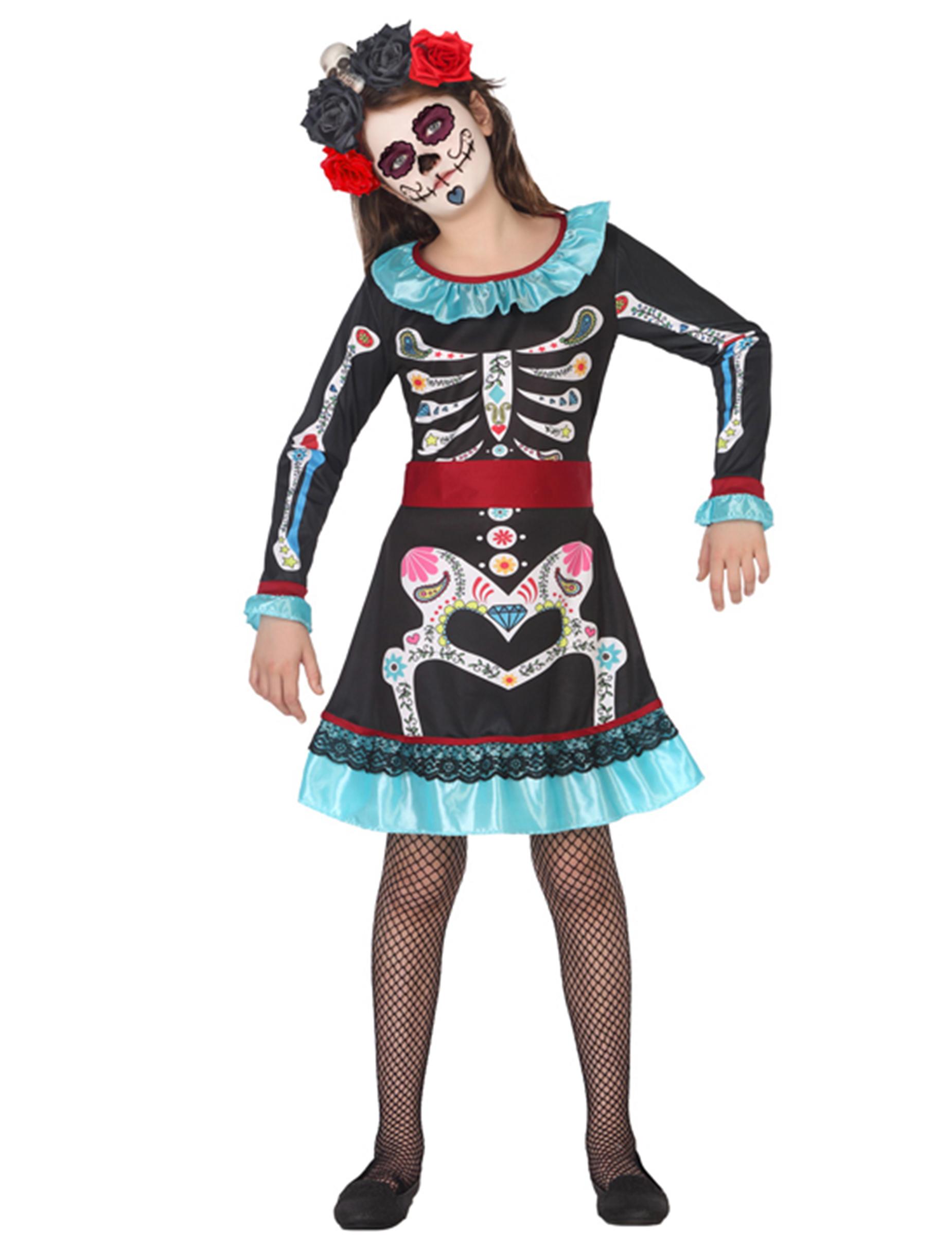 dia de los muertos skelett kost m f r kinder. Black Bedroom Furniture Sets. Home Design Ideas