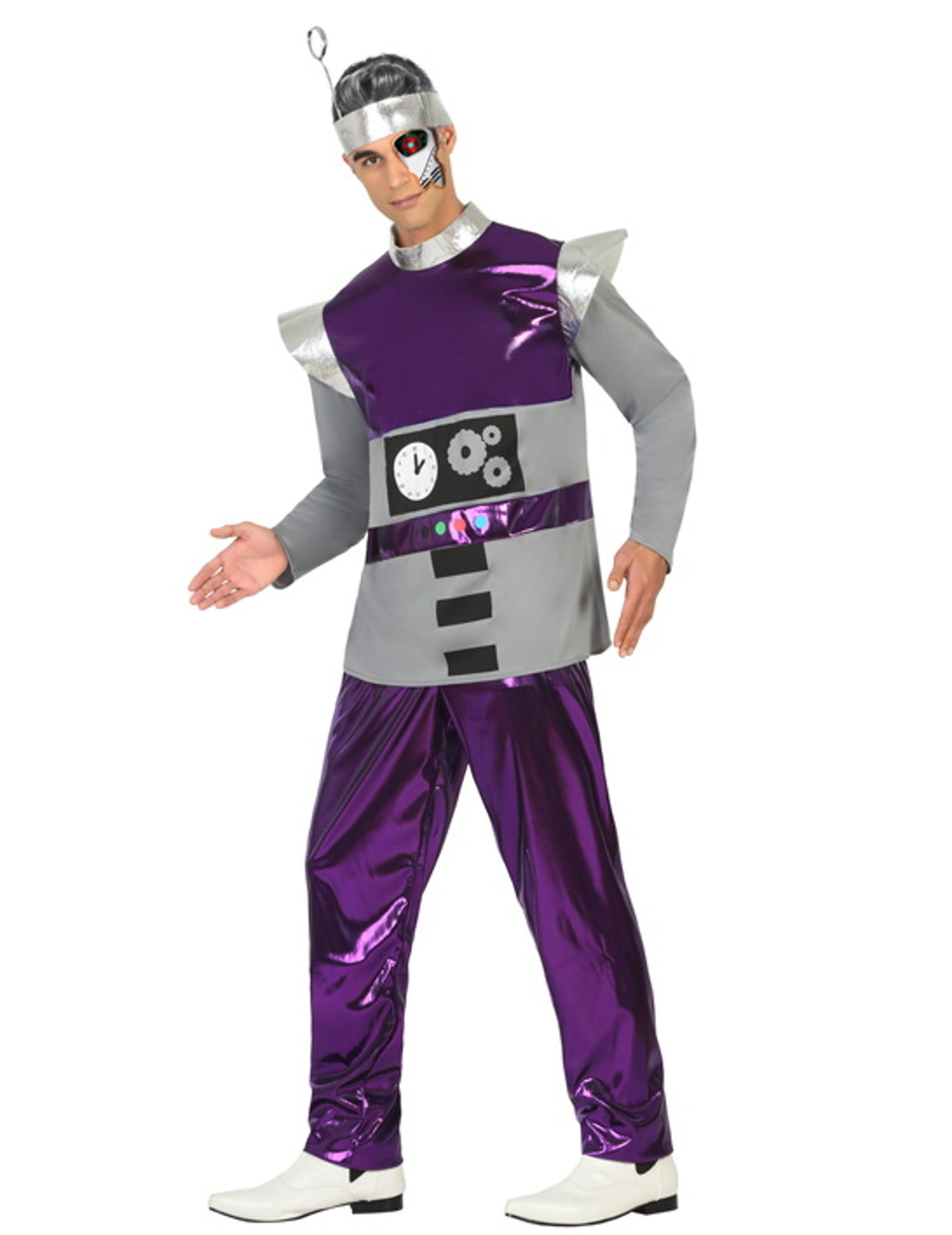 kost m roboter violett f r m nner kost me f r erwachsene und g nstige faschingskost me vegaoo. Black Bedroom Furniture Sets. Home Design Ideas