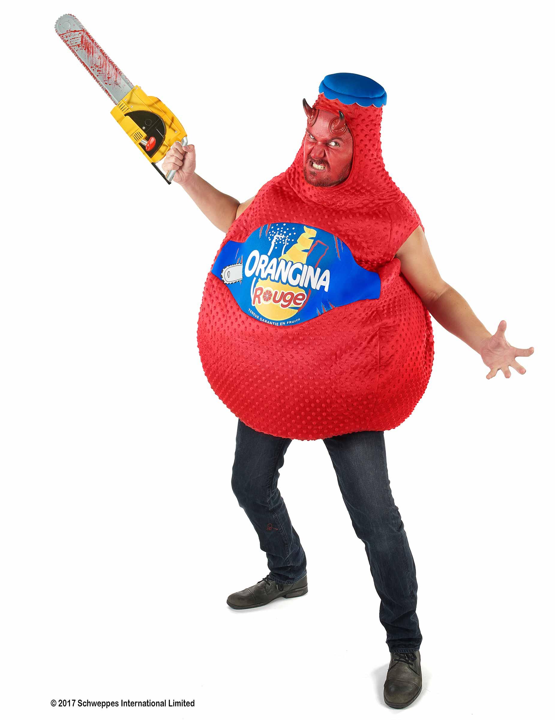 Kostüm Orangina Flasche Blutroange in Rot 271418