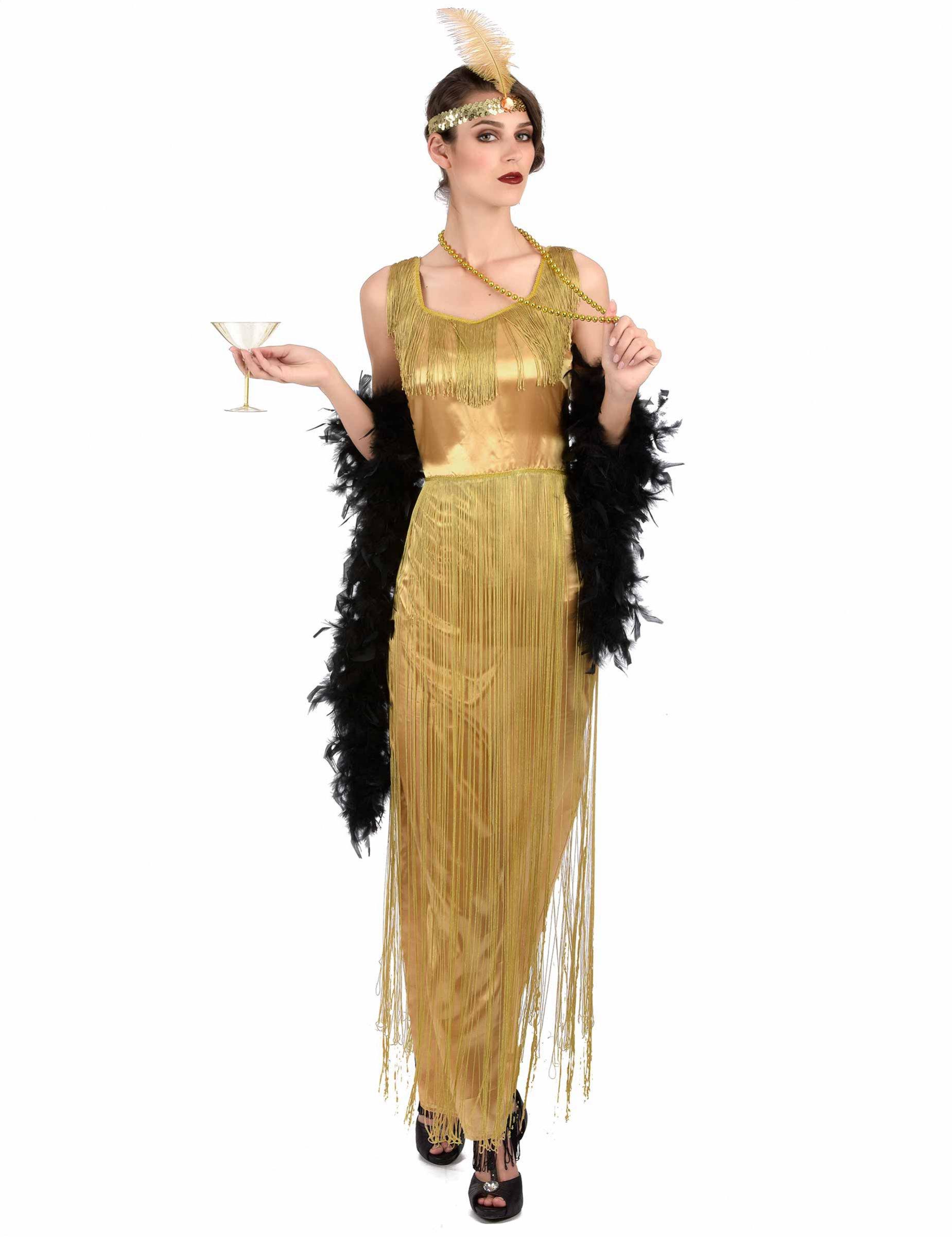 goldKostüme Edles Charleston Damen Kostüm für Fransen Erwachsene odCxBe