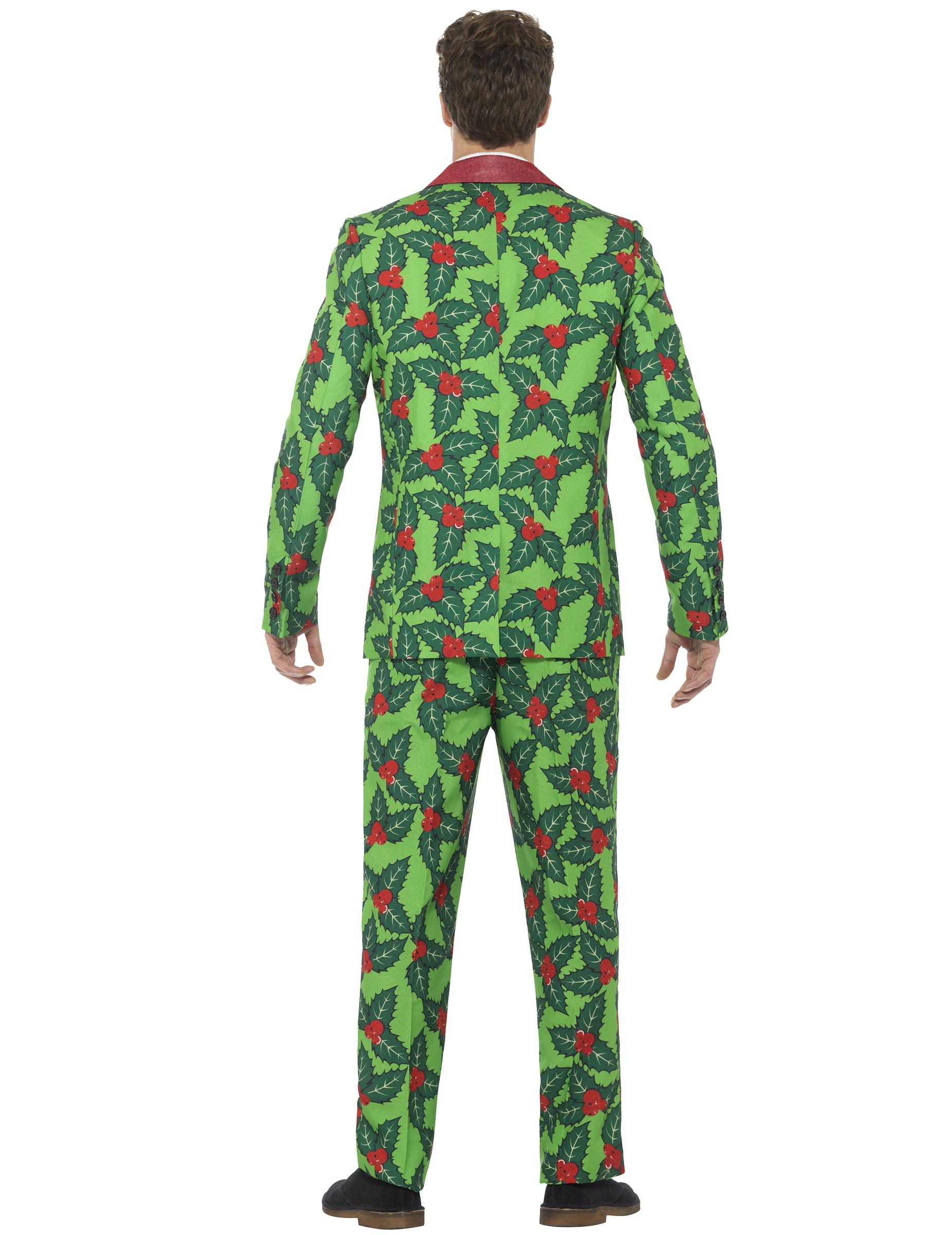 weihnachts anzug motiv stechpalme kost me f r erwachsene. Black Bedroom Furniture Sets. Home Design Ideas