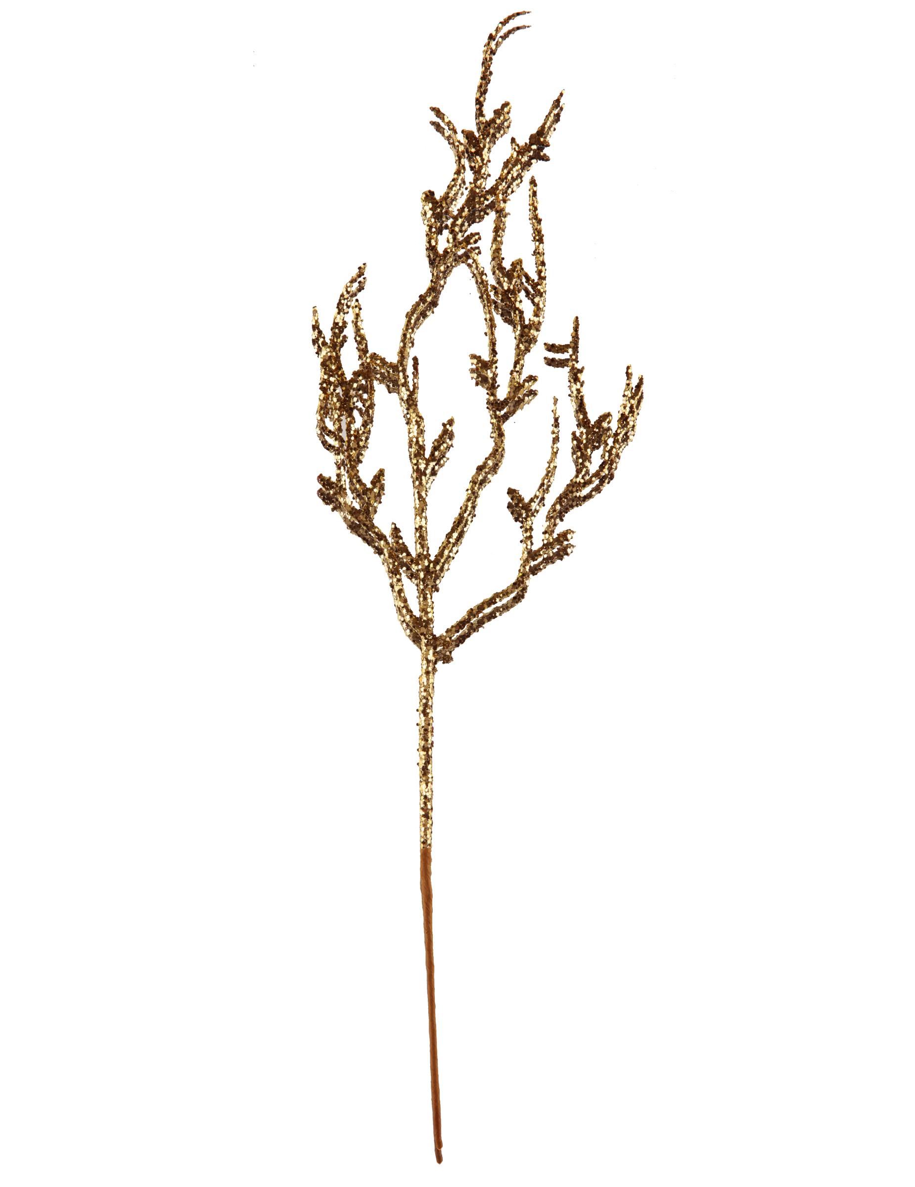 deko ast mit pailletten weihnachtliche tischdekoration gold 9 5x35cm partydeko und g nstige. Black Bedroom Furniture Sets. Home Design Ideas
