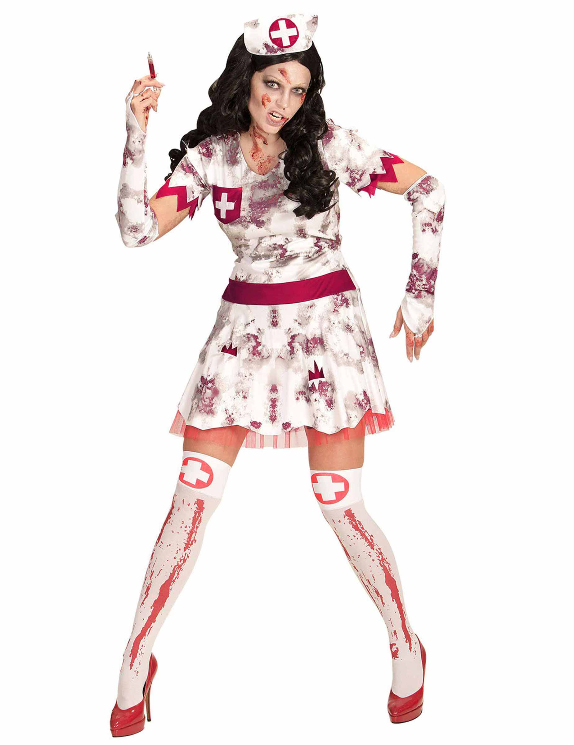 zombie krankenschwester kostüm damen halloween: kostüme für