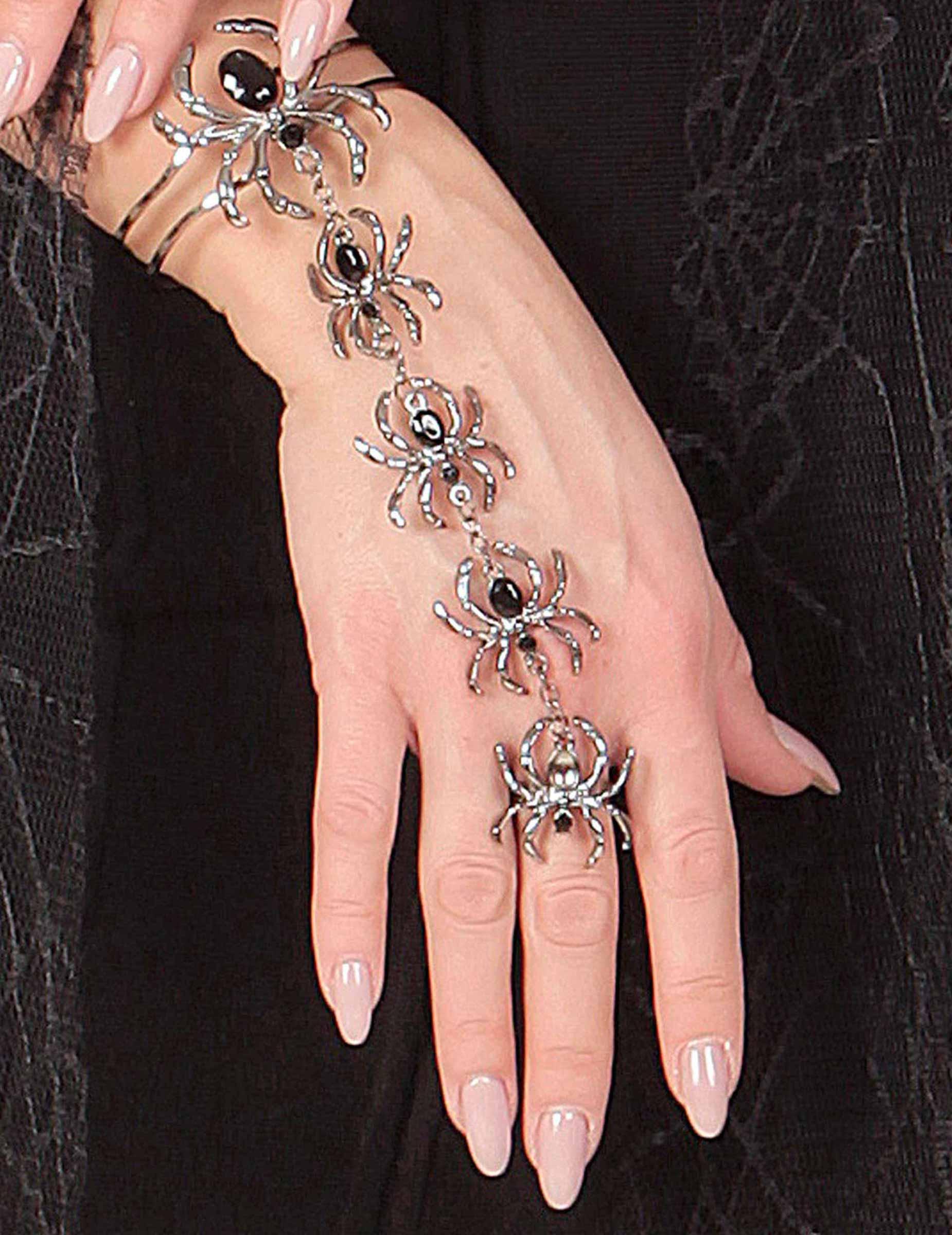 #Armband und Ring Spinne für Damen Halloween#