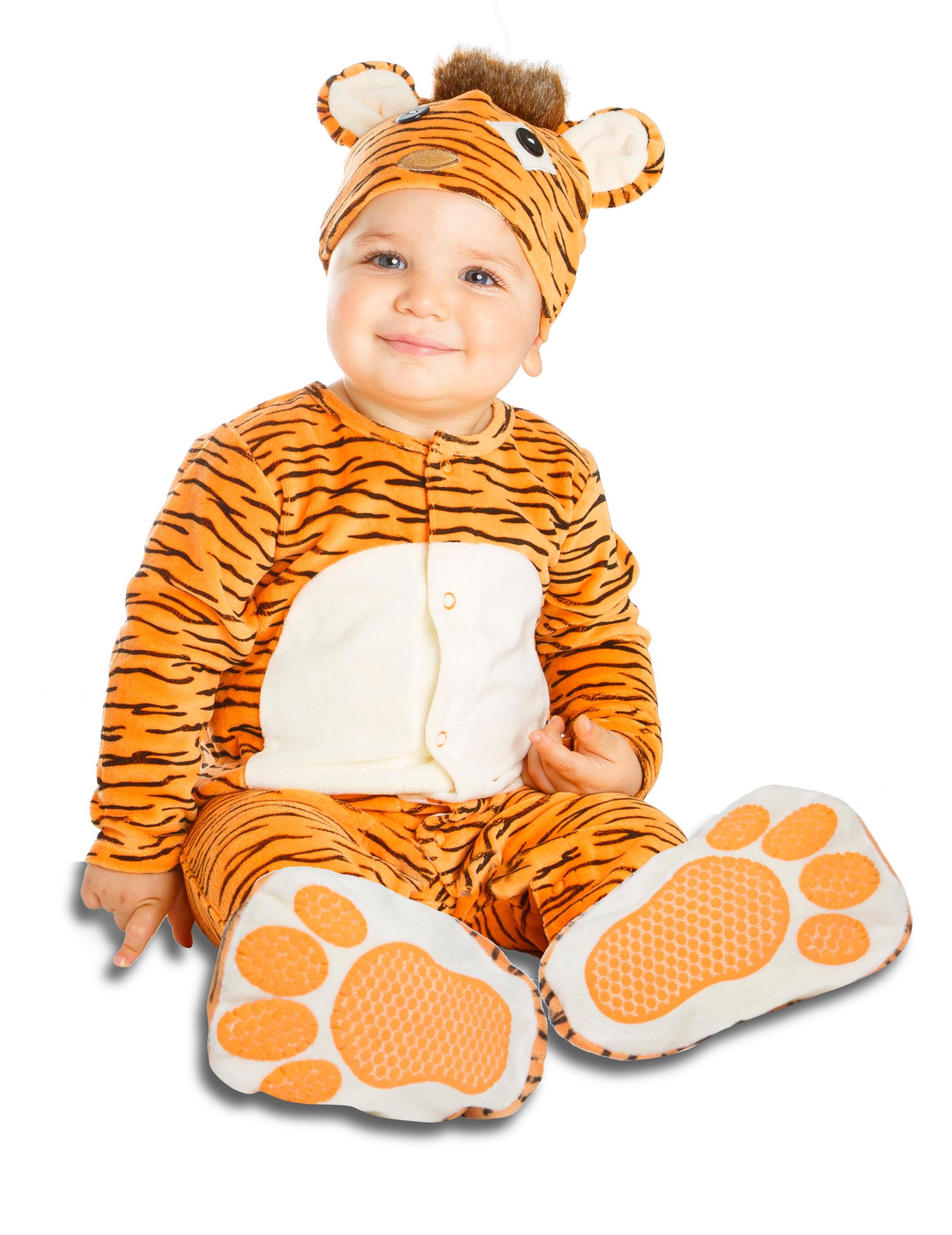#Baby Kostüm Tiger mit Schnuller#