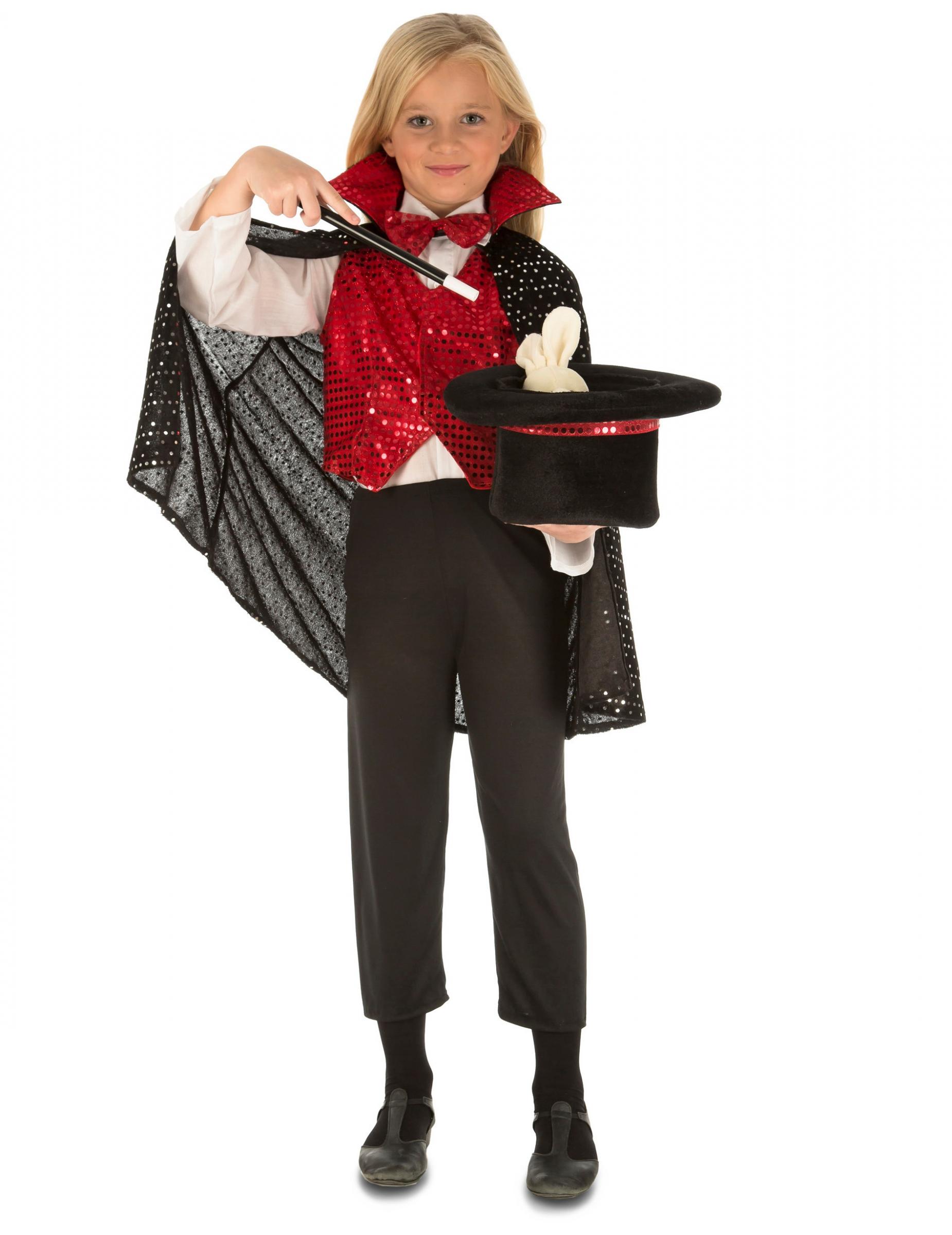 Zauberer Kinderkostum Magier Rot Schwarz Kostume Fur Kinder Und