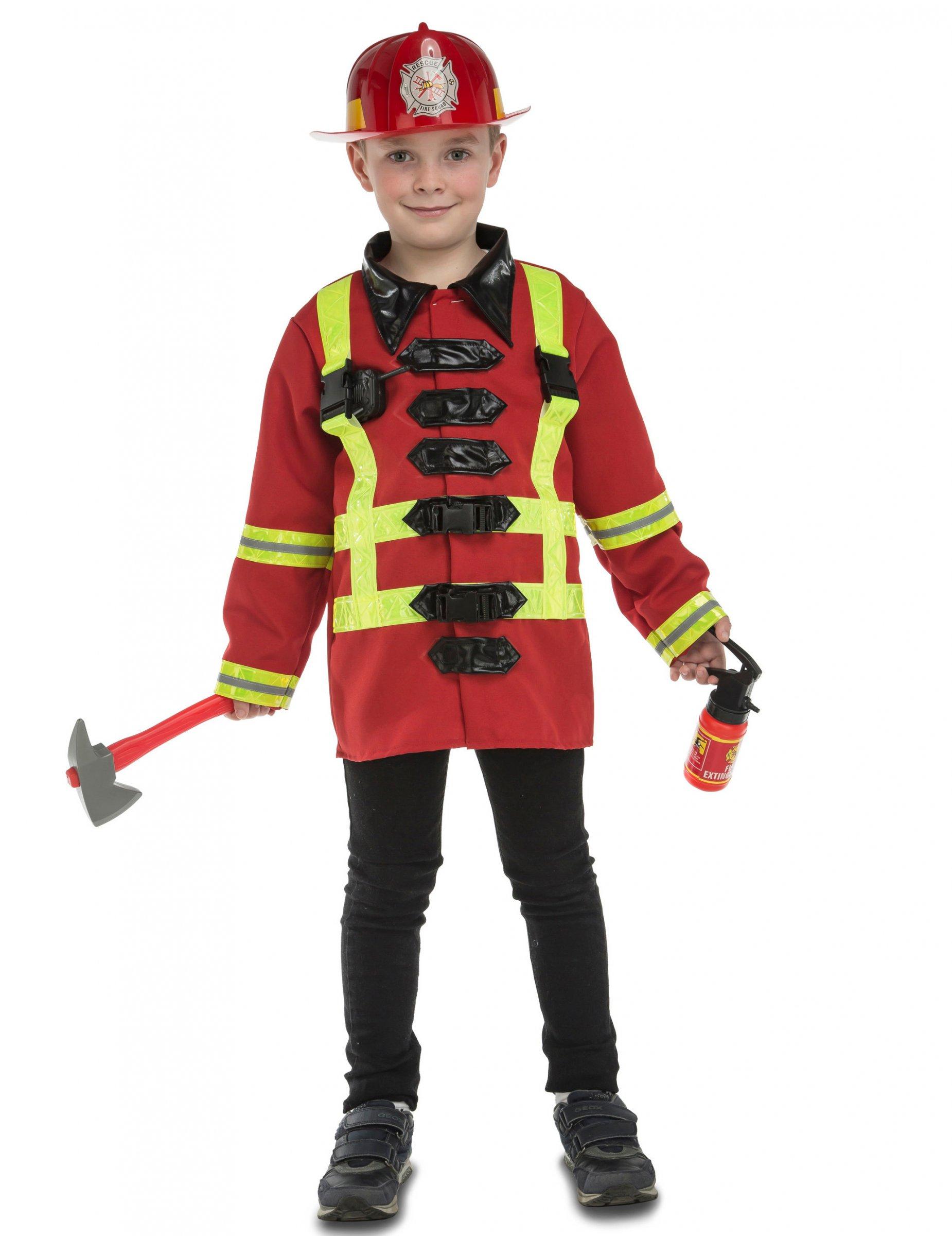 Feuerwehrmann-Kostüm mit Zubehör Kinder: Kostüme für Kinder,und ...