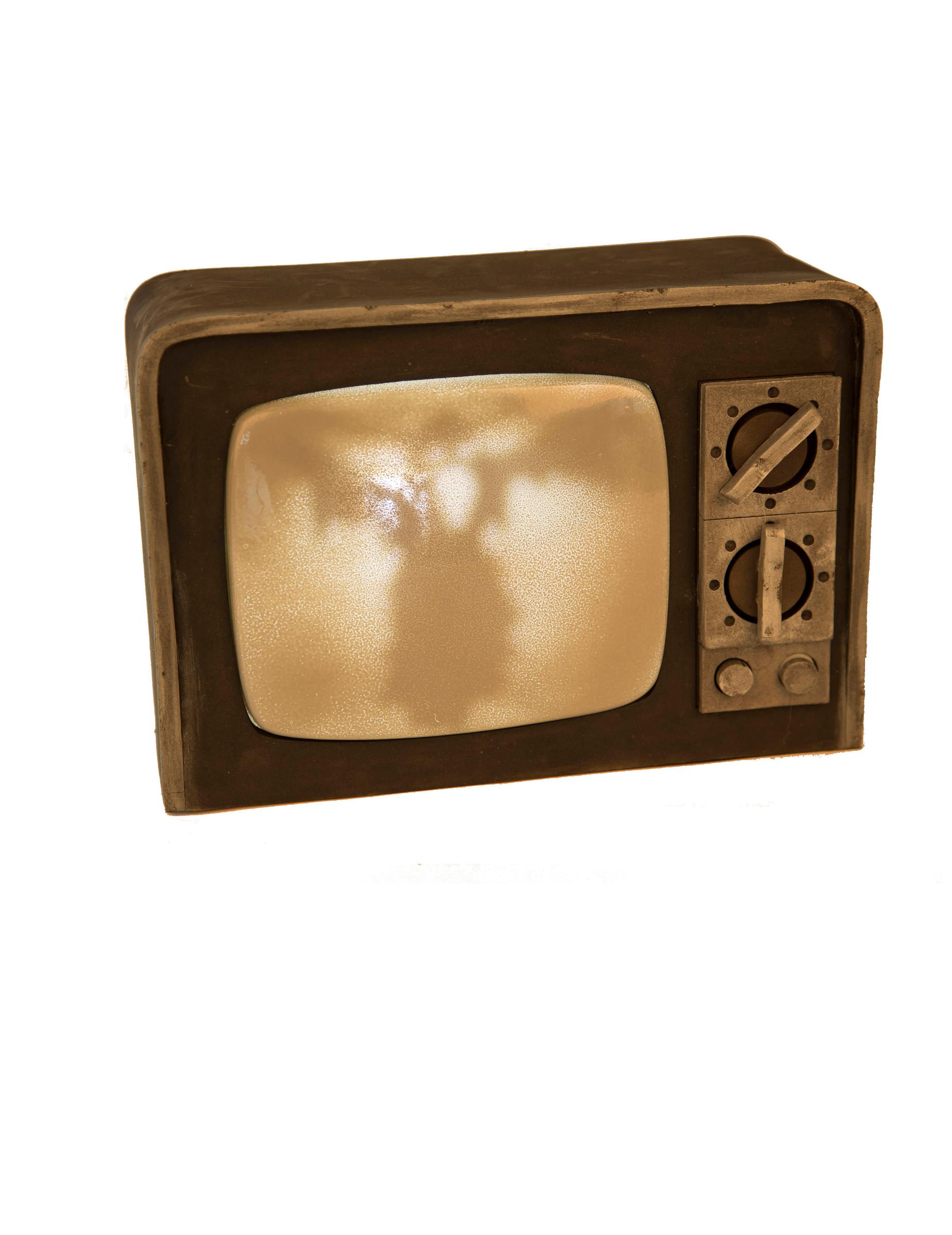 Grusel-Fernseher mit Animation Halloween-Dekoration 21x31cm 273006