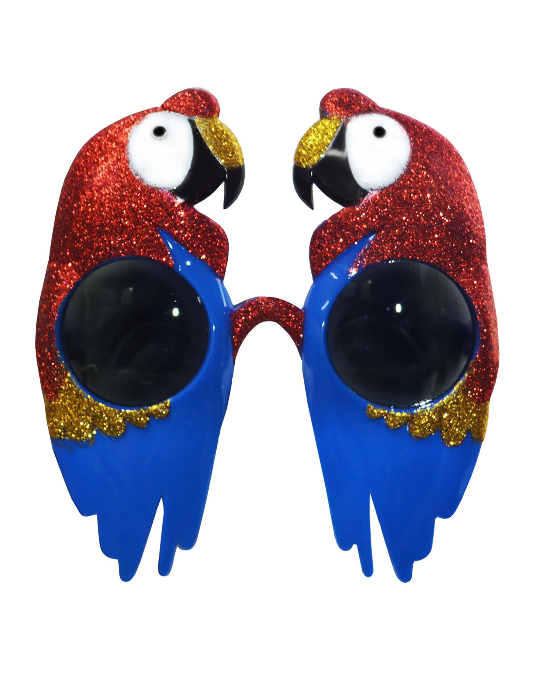 #Papageien Brille tierisches-Accessoire bunt#