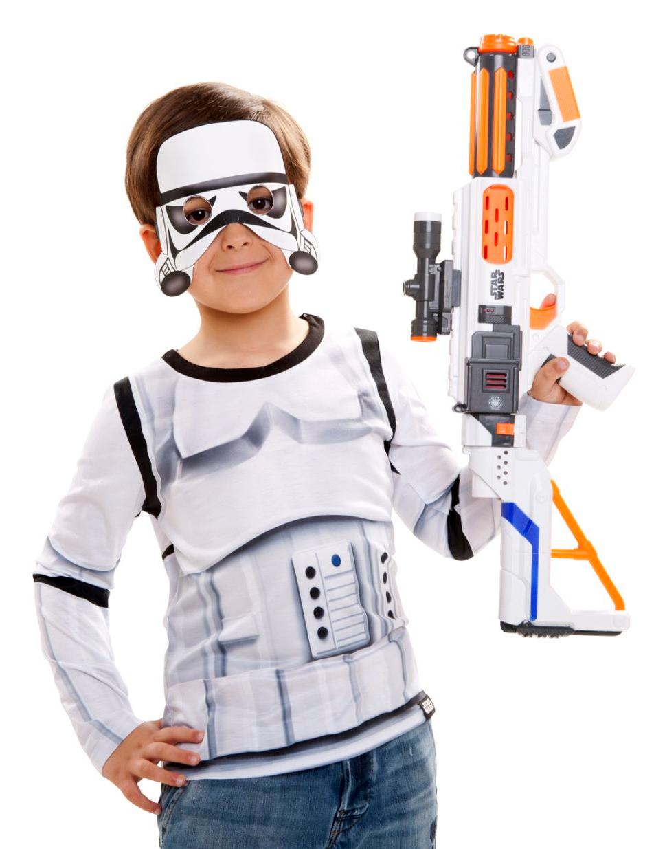 stormtrooper star wars kinder shirt wei schwarz kost me. Black Bedroom Furniture Sets. Home Design Ideas