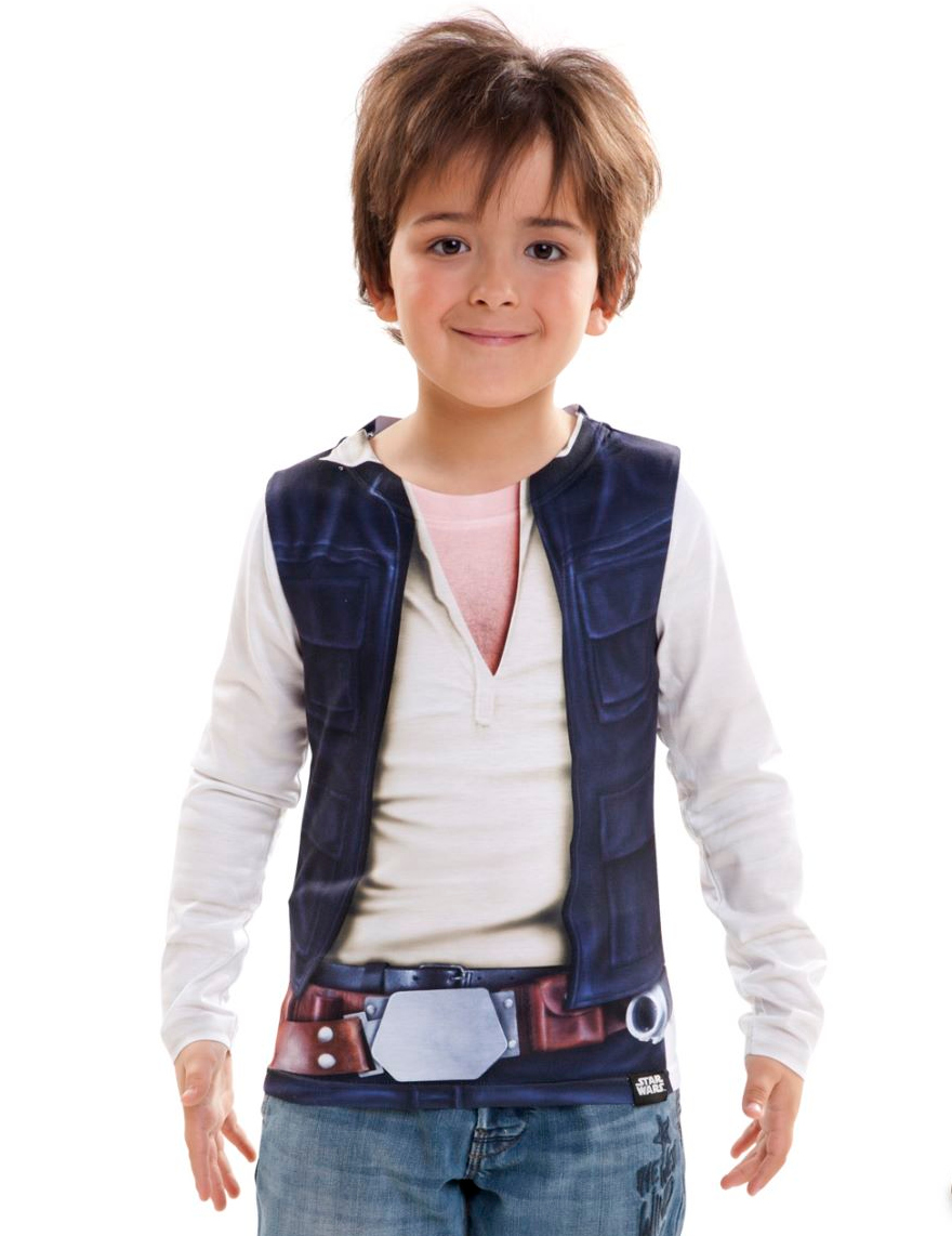 han solo star wars kinder shirt blau wei kost me f r kinder und g nstige faschingskost me. Black Bedroom Furniture Sets. Home Design Ideas
