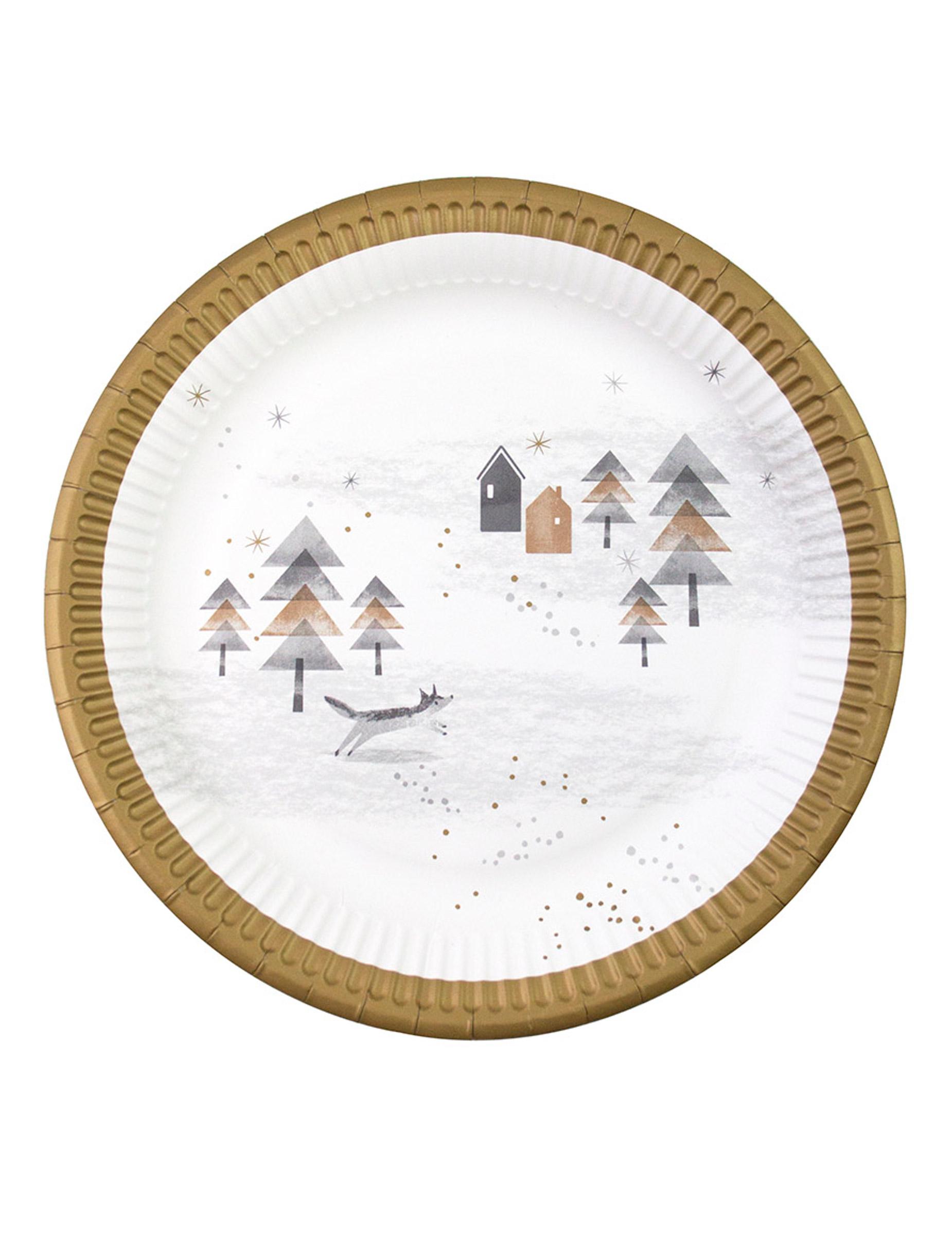 pappteller f r weihnachten 8 st ck 23cm partydeko und g nstige faschingskost me vegaoo. Black Bedroom Furniture Sets. Home Design Ideas