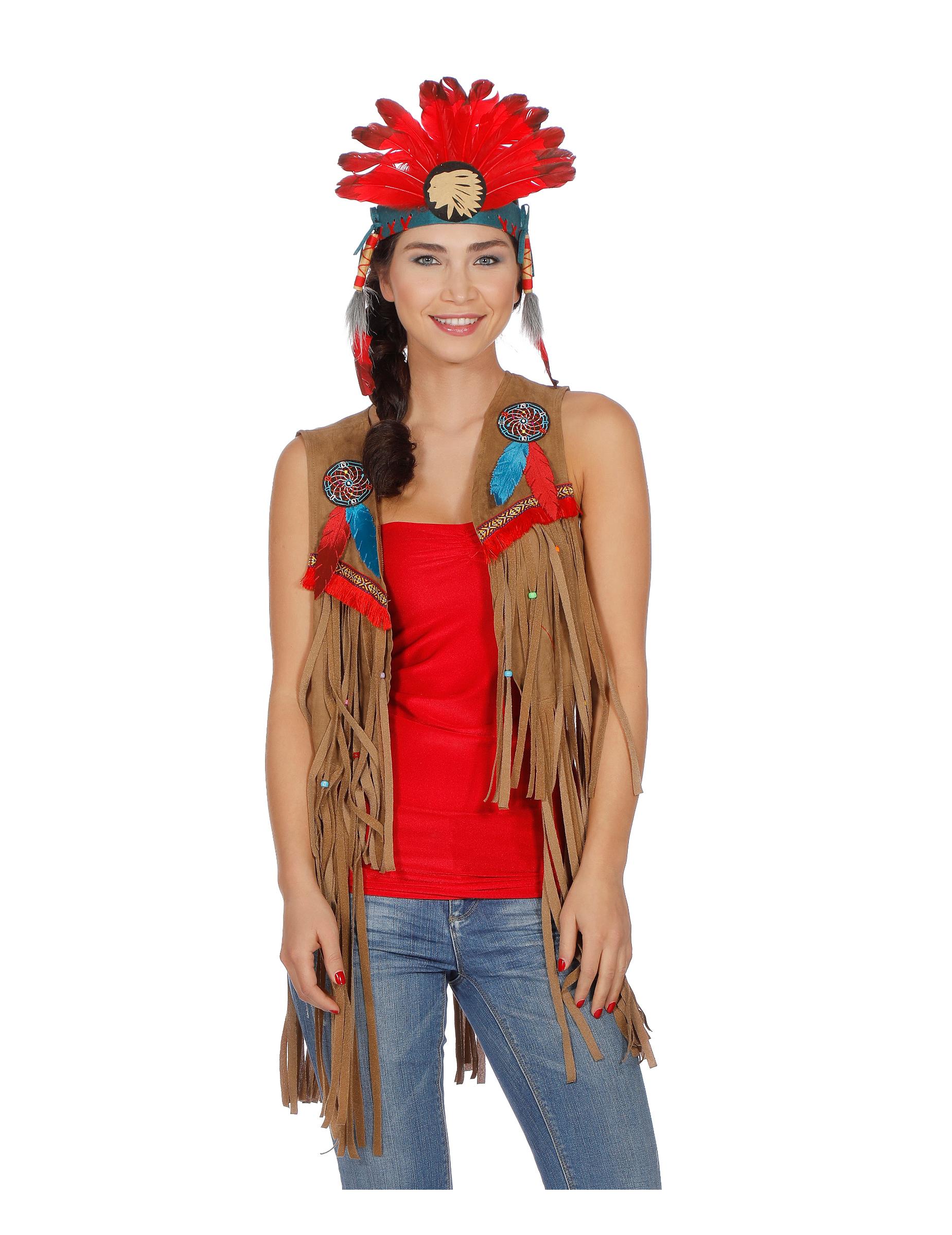 indianer weste f r damen kost me f r erwachsene und g nstige faschingskost me vegaoo. Black Bedroom Furniture Sets. Home Design Ideas