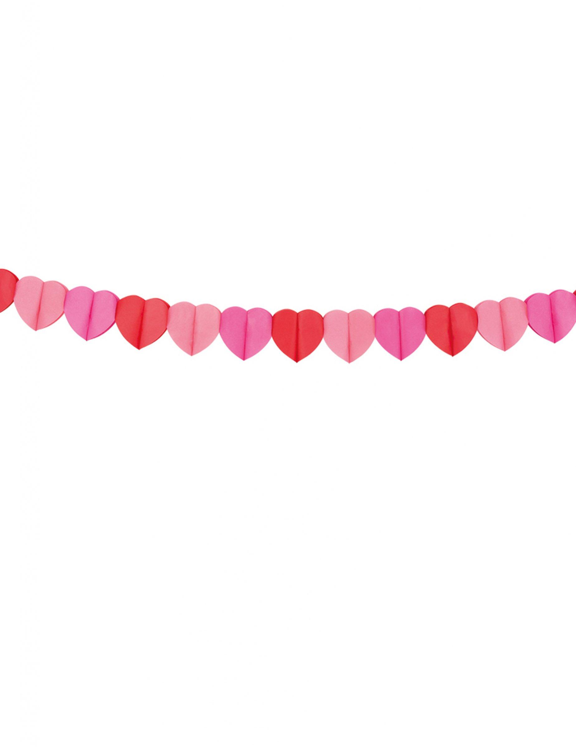 Herz Girlande Aus Papier 4 Meter Partydeko Und Günstige
