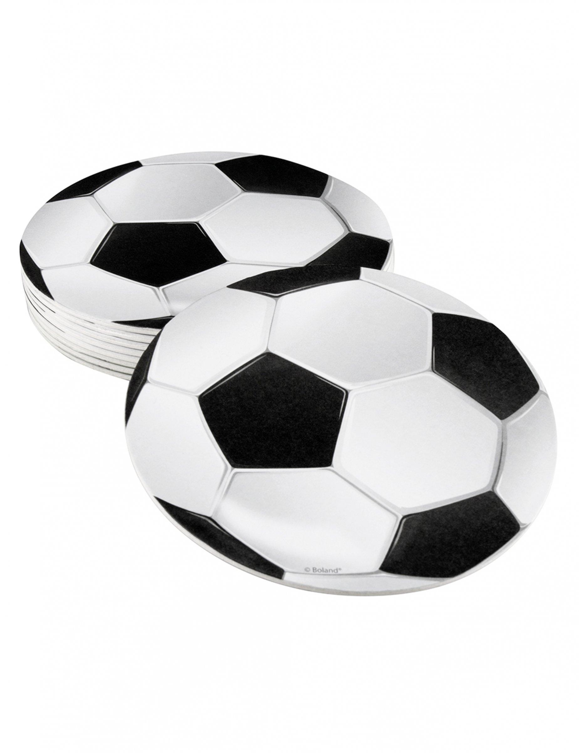 fussball tischunterleger 6 st ck schwarz weiss 10 cm partydeko und g nstige faschingskost me. Black Bedroom Furniture Sets. Home Design Ideas