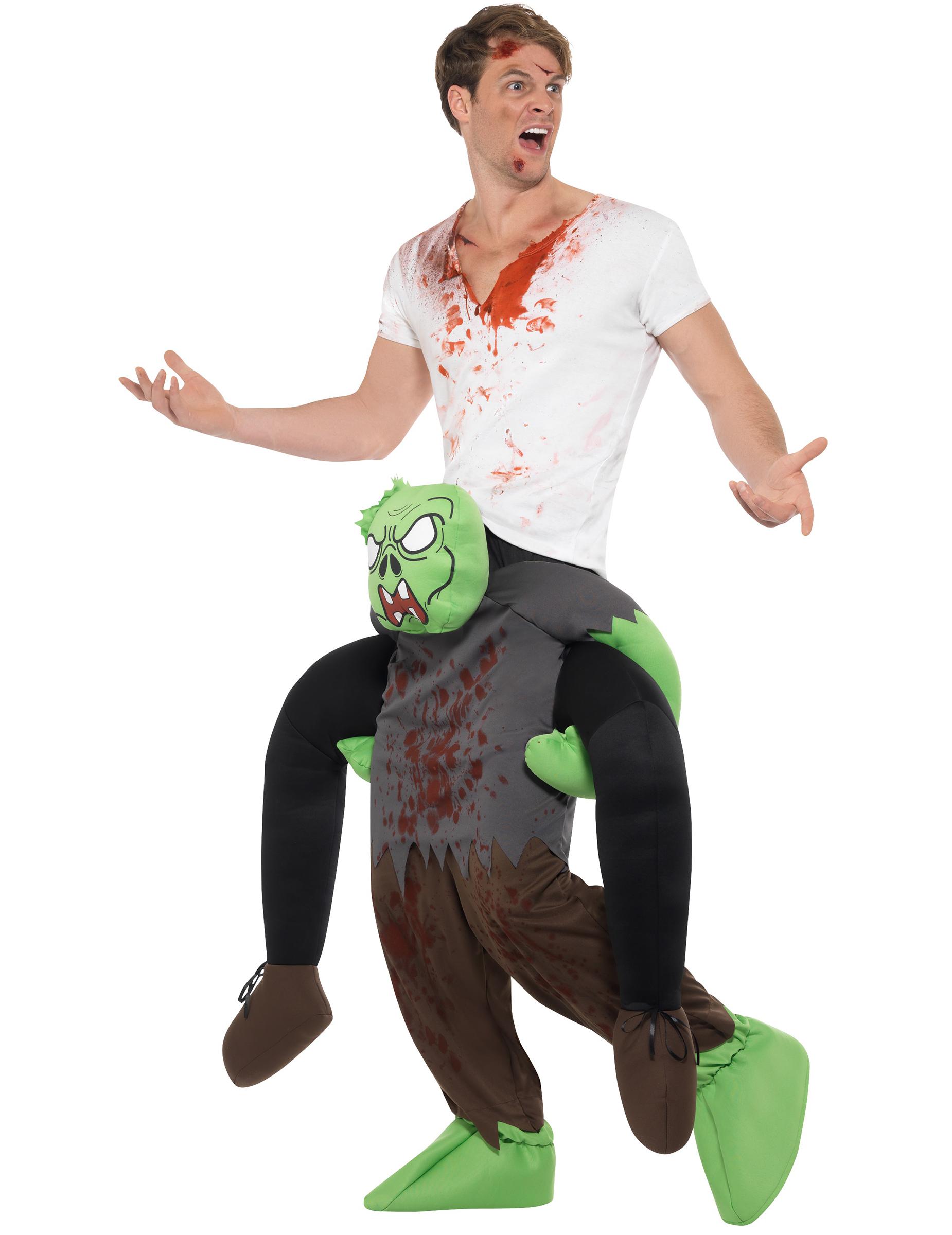 kost m auf dem r cken eines zombie kost me f r erwachsene und g nstige faschingskost me vegaoo. Black Bedroom Furniture Sets. Home Design Ideas